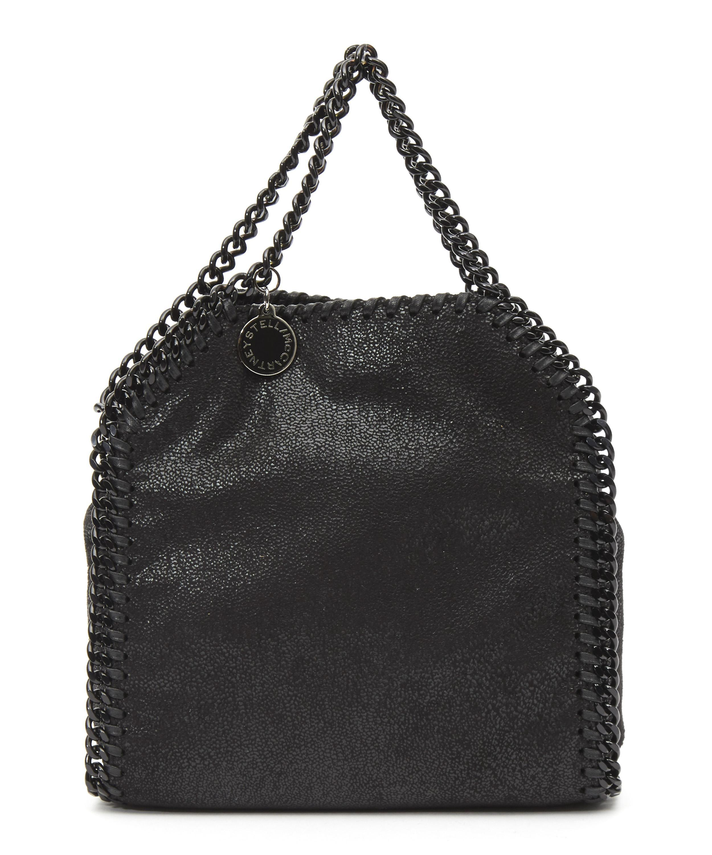 Lyst - Stella Mccartney Tiny Falabella Bag in Black dc0d7644fd6ca
