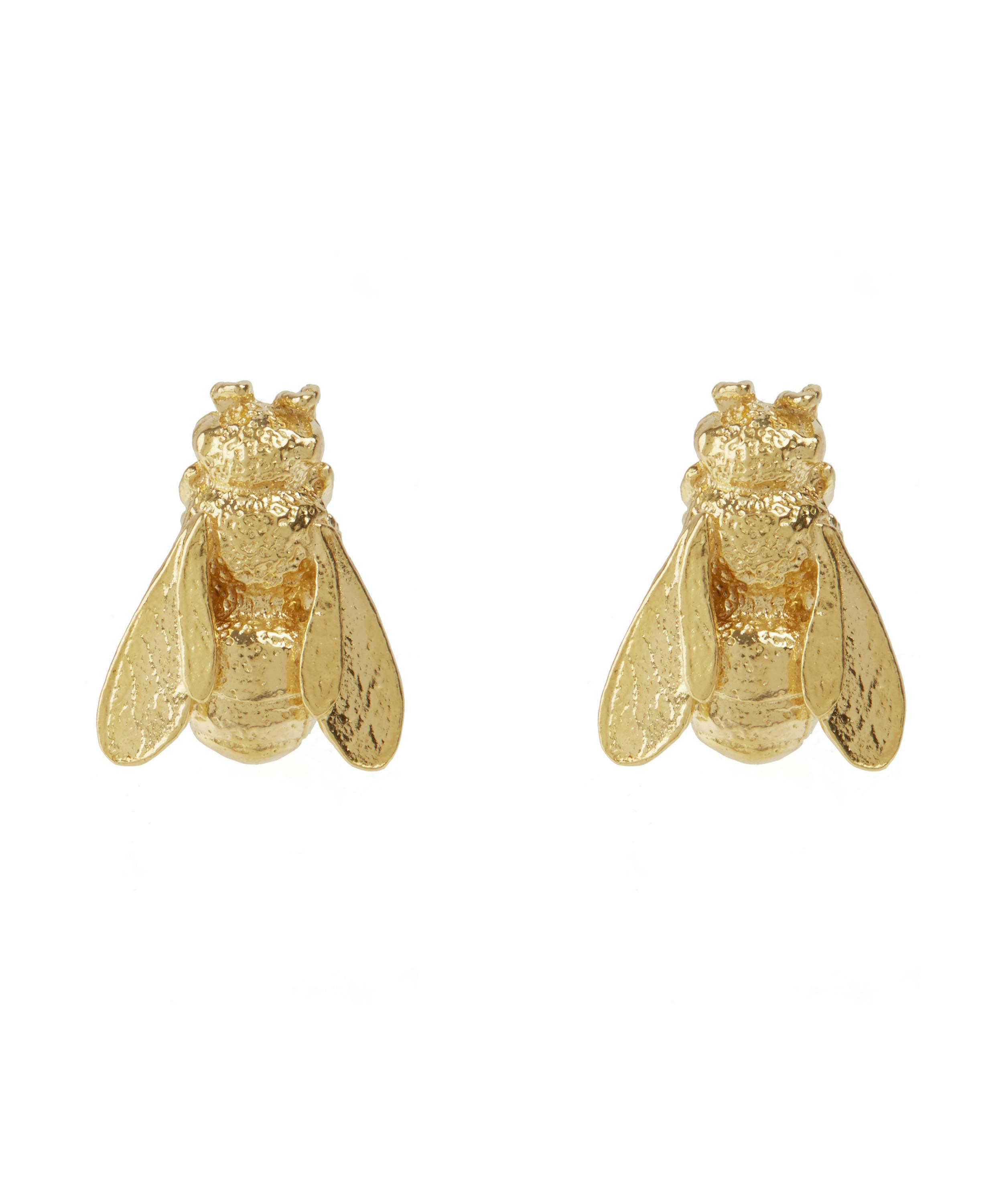 and diamond yvonne gold jewelry normal gallery earring l on in leon stud metallic product bee lyst