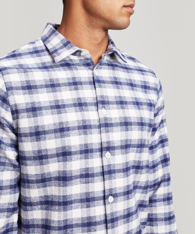NN07 Alberto Check Shirt in Blue for Men - Lyst 73b54173dcecf