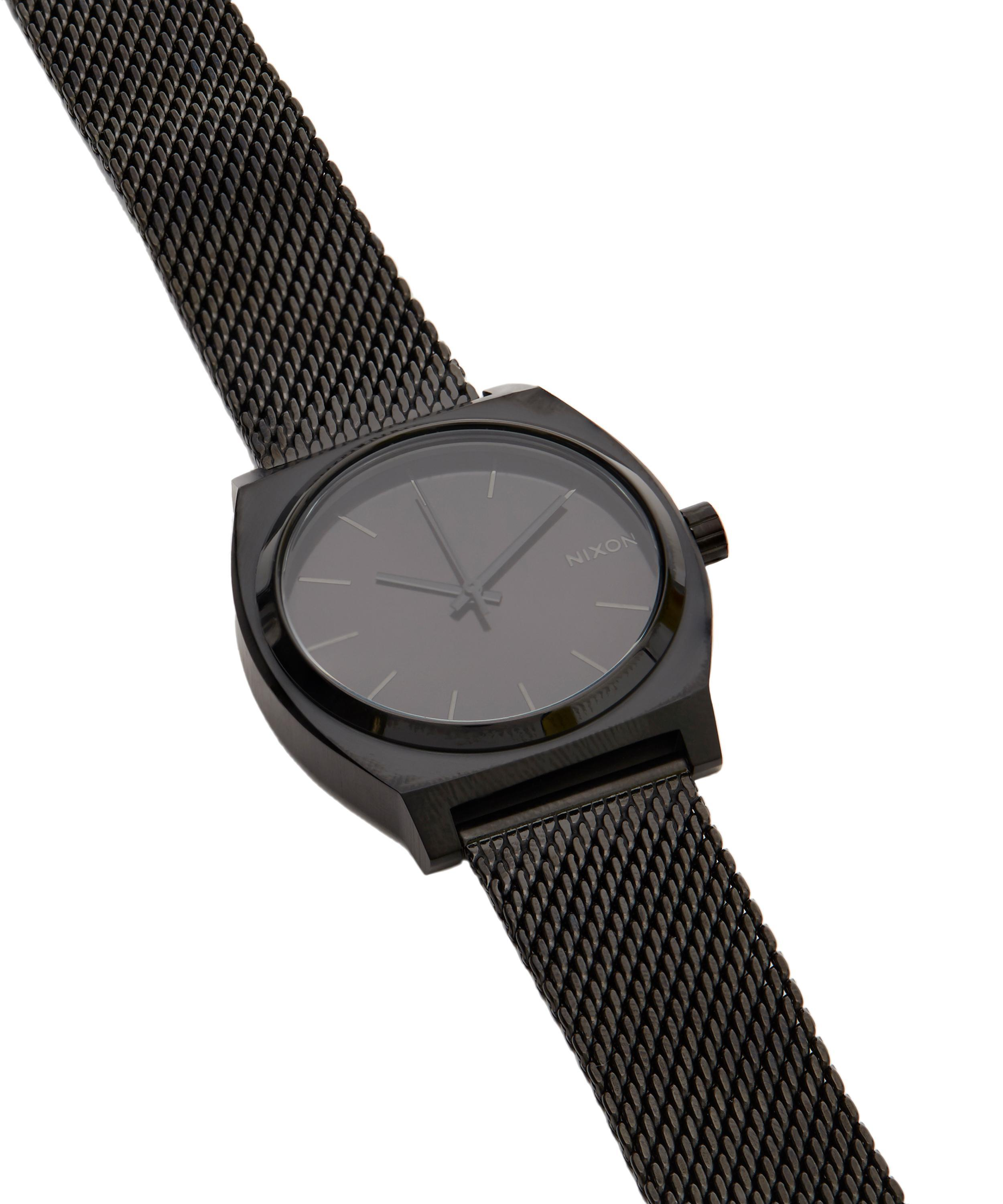 Lyst - Nixon Time Teller Milanese Watch in Black ee0886d71ef