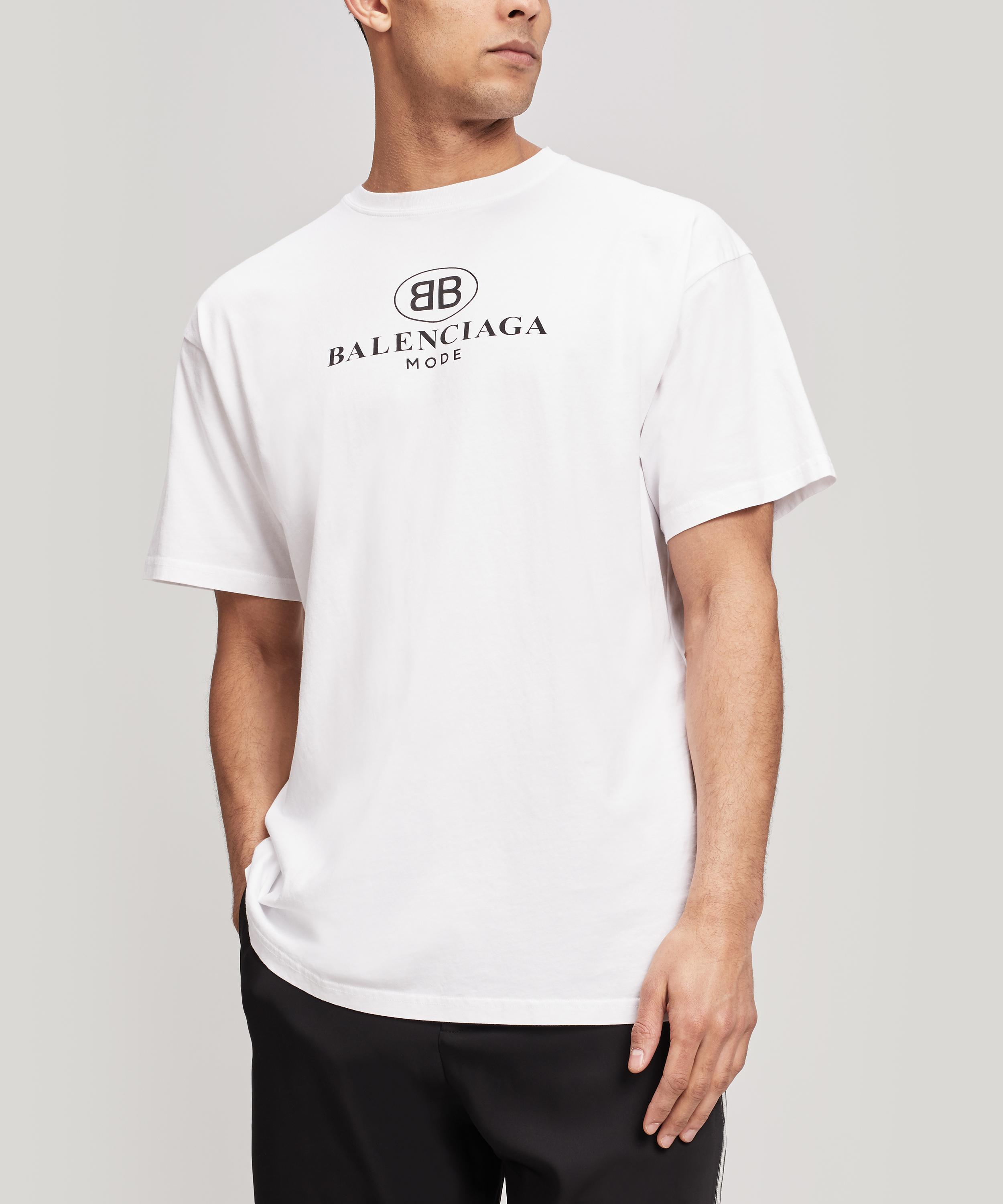 6a5dfab1 Balenciaga - White Mode Logo T-shirt for Men - Lyst. View fullscreen