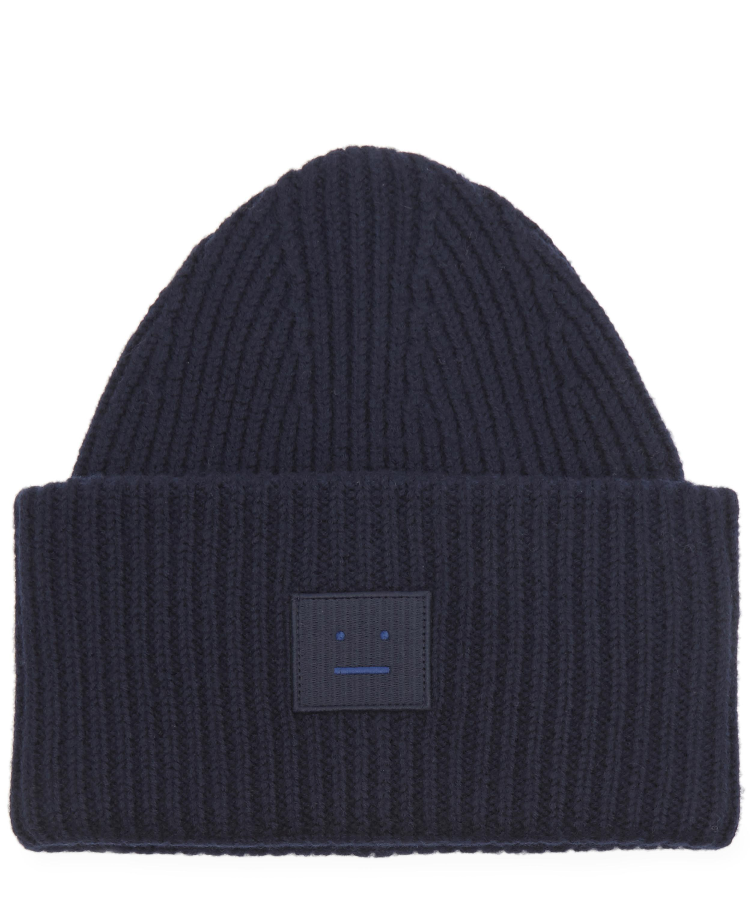 c3b9cd4261d53 Acne Studios  pansy N Face  Beanie Navy in Blue for Men - Save 11 ...
