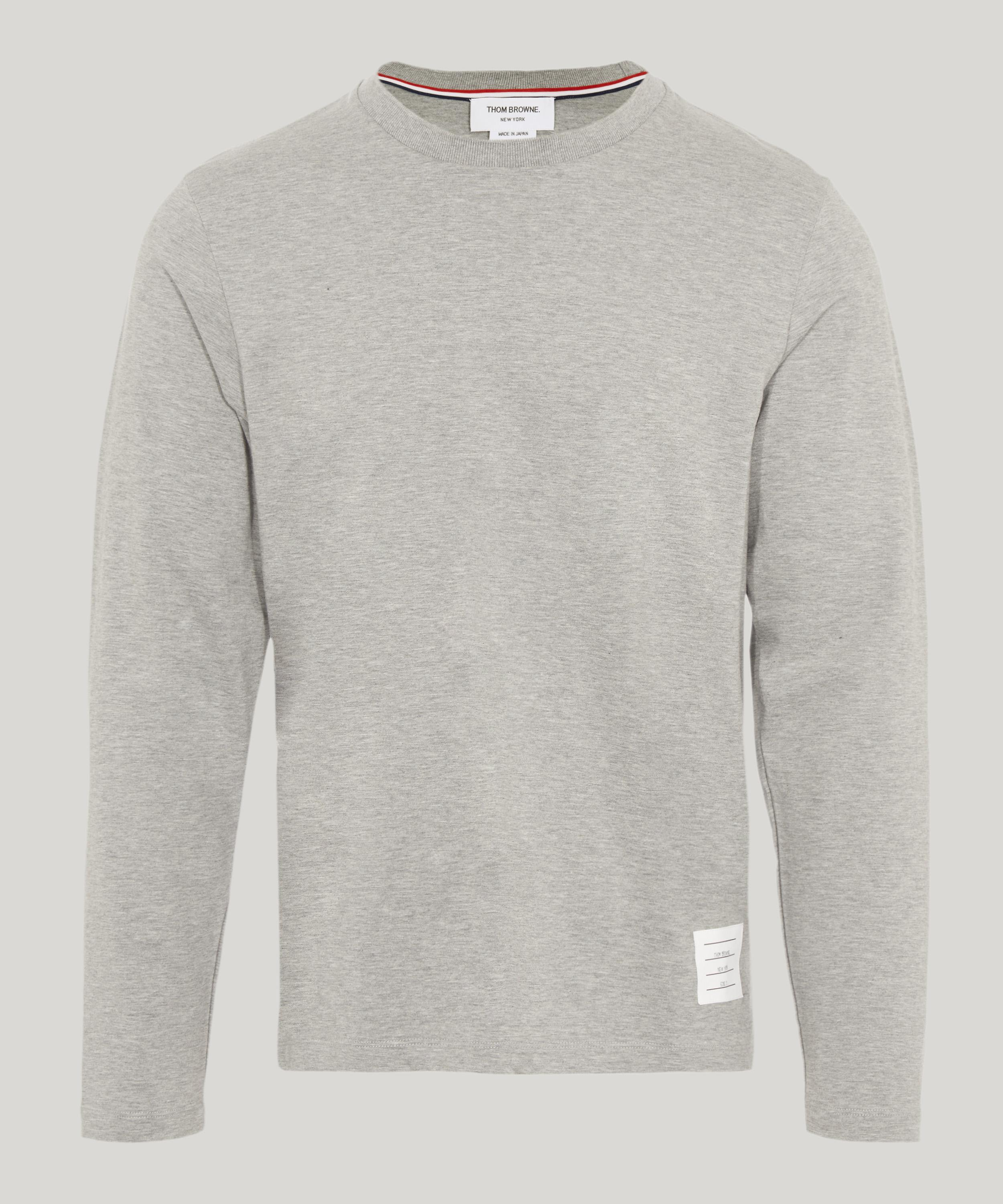 a015155564b4 Thom Browne Relaxed Fit Long Sleeve Jersey T-shirt in Gray for Men ...