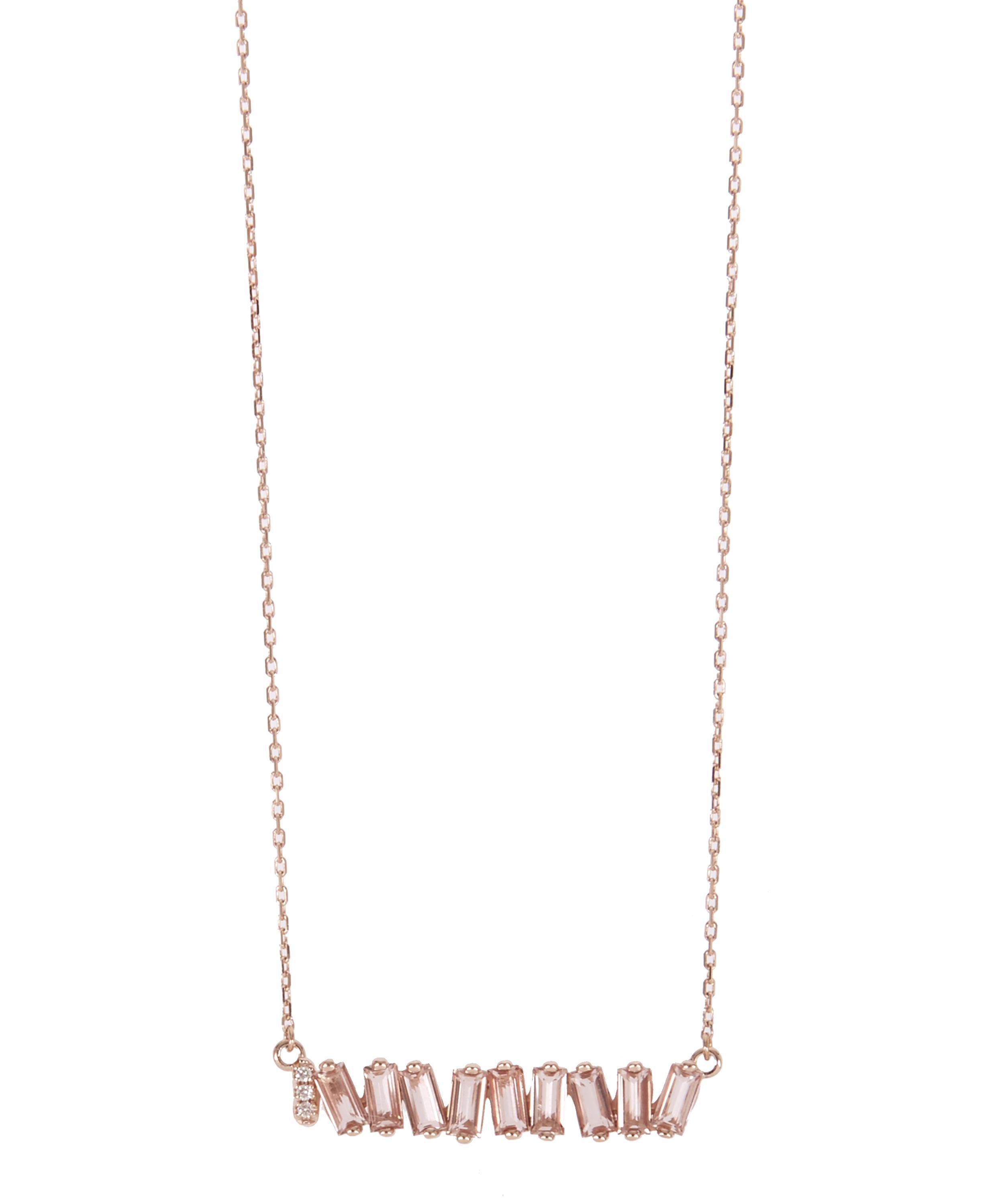 le necklace with aquamarine in and strawberry vian gold diamonds levian peach pendant tw chocolate morganite vanilla