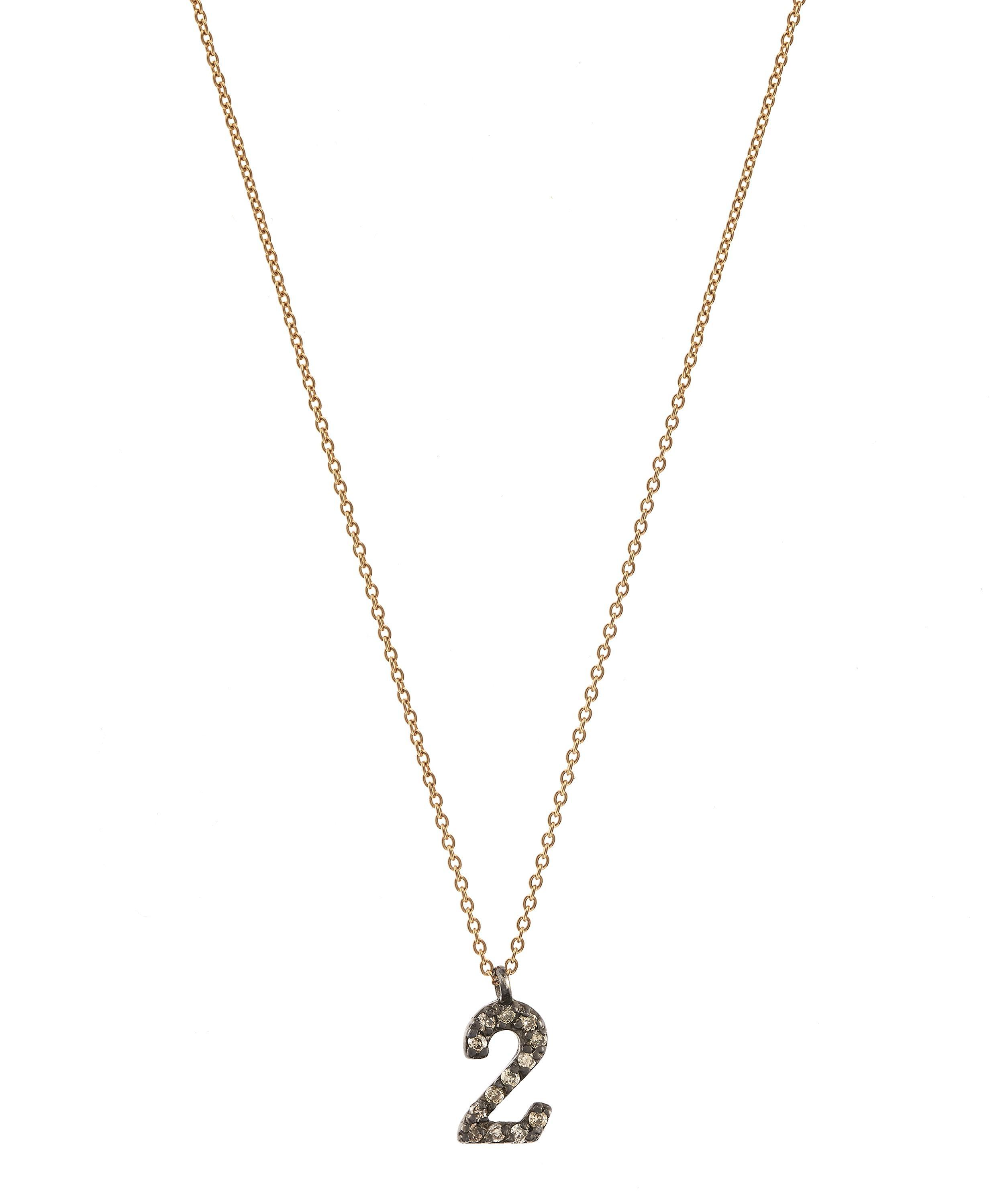 necklace number l gold enchanted alphabet twig