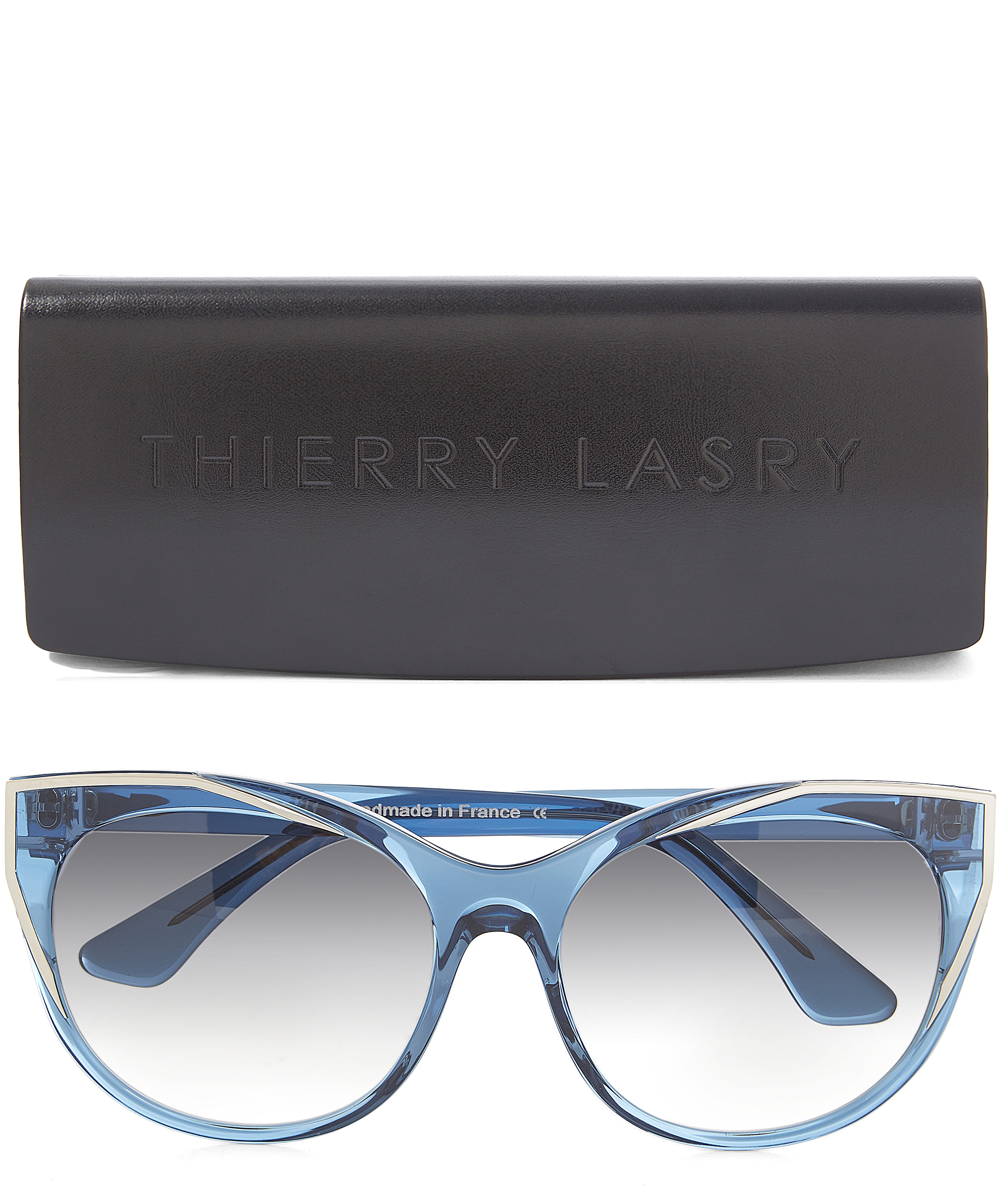 Lyst Thierry Lasry Polygamy Sunglasses In Blue