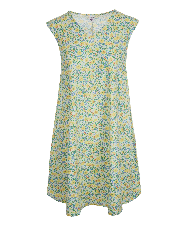 9327aa27df Lyst - Uniqlo Liberty Print Flared Sleeveless Dress in Yellow