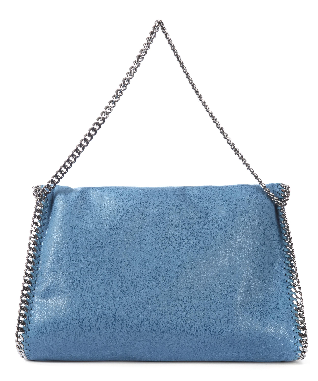 lyst stella mccartney three chain falabella tote bag in blue. Black Bedroom Furniture Sets. Home Design Ideas