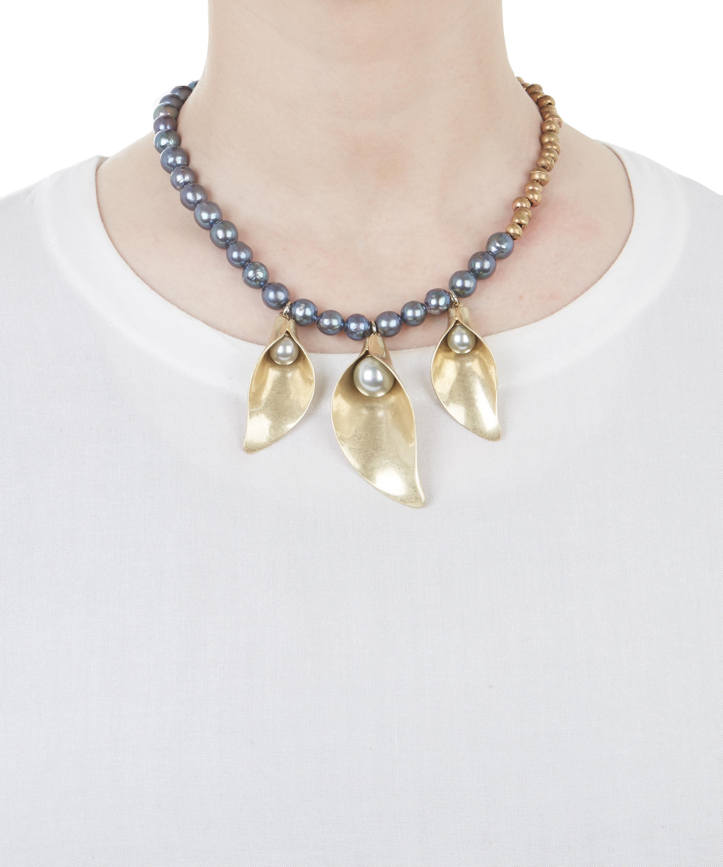 Lyst lulu frost jardin necklace in metallic for Jardin necklace