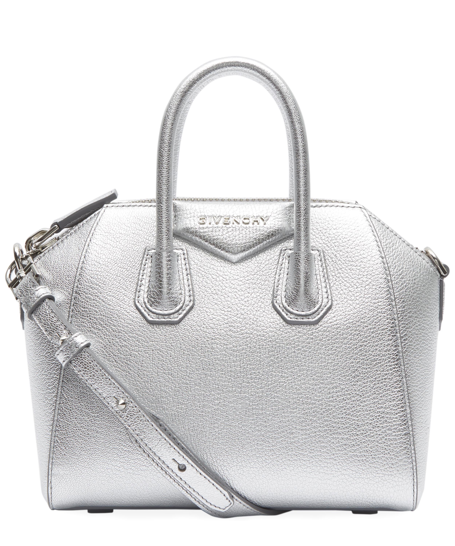 Lyst - Givenchy Antigona Mini Metallised Cross Body Bag in Metallic be5639370ef7d