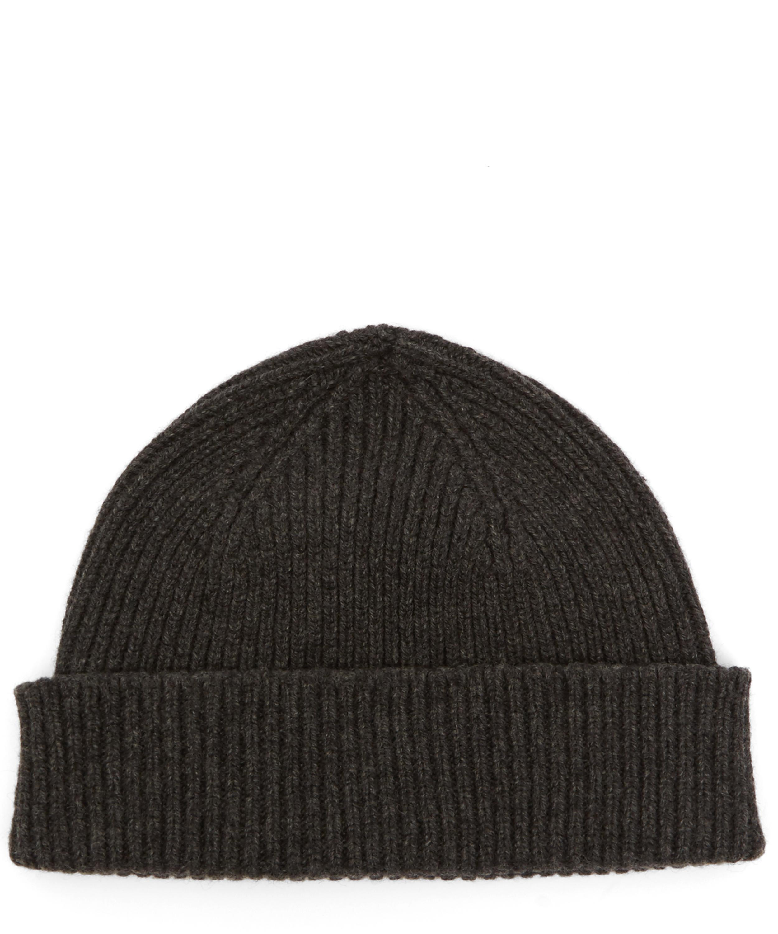 Lyst - Paul Smith Ribbed Cashmere Beanie in Gray for Men db7a08628344