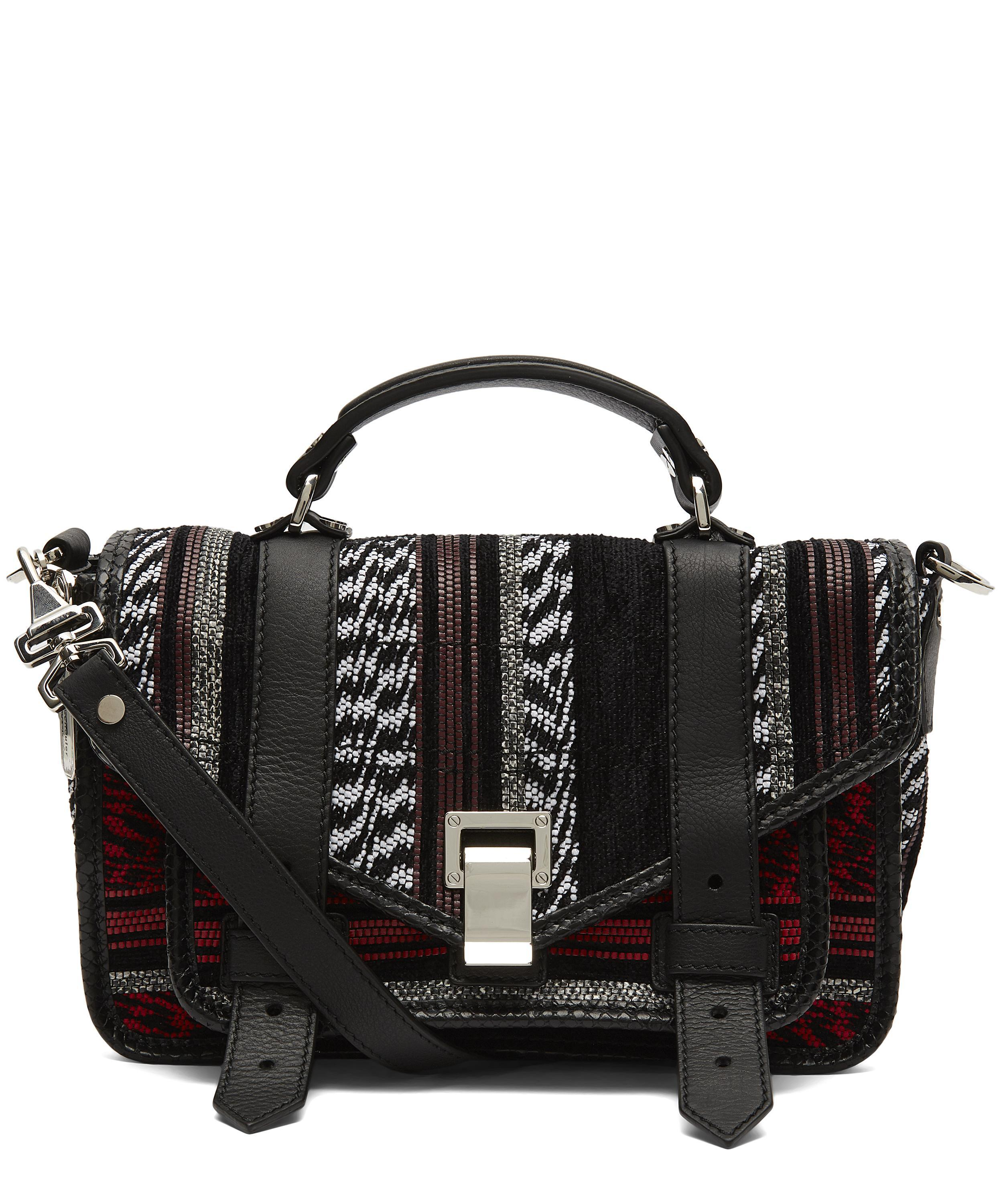 Proenza Schouler Ps1 Tiny Cross-body Bag in Black - Lyst e86914eee6caf