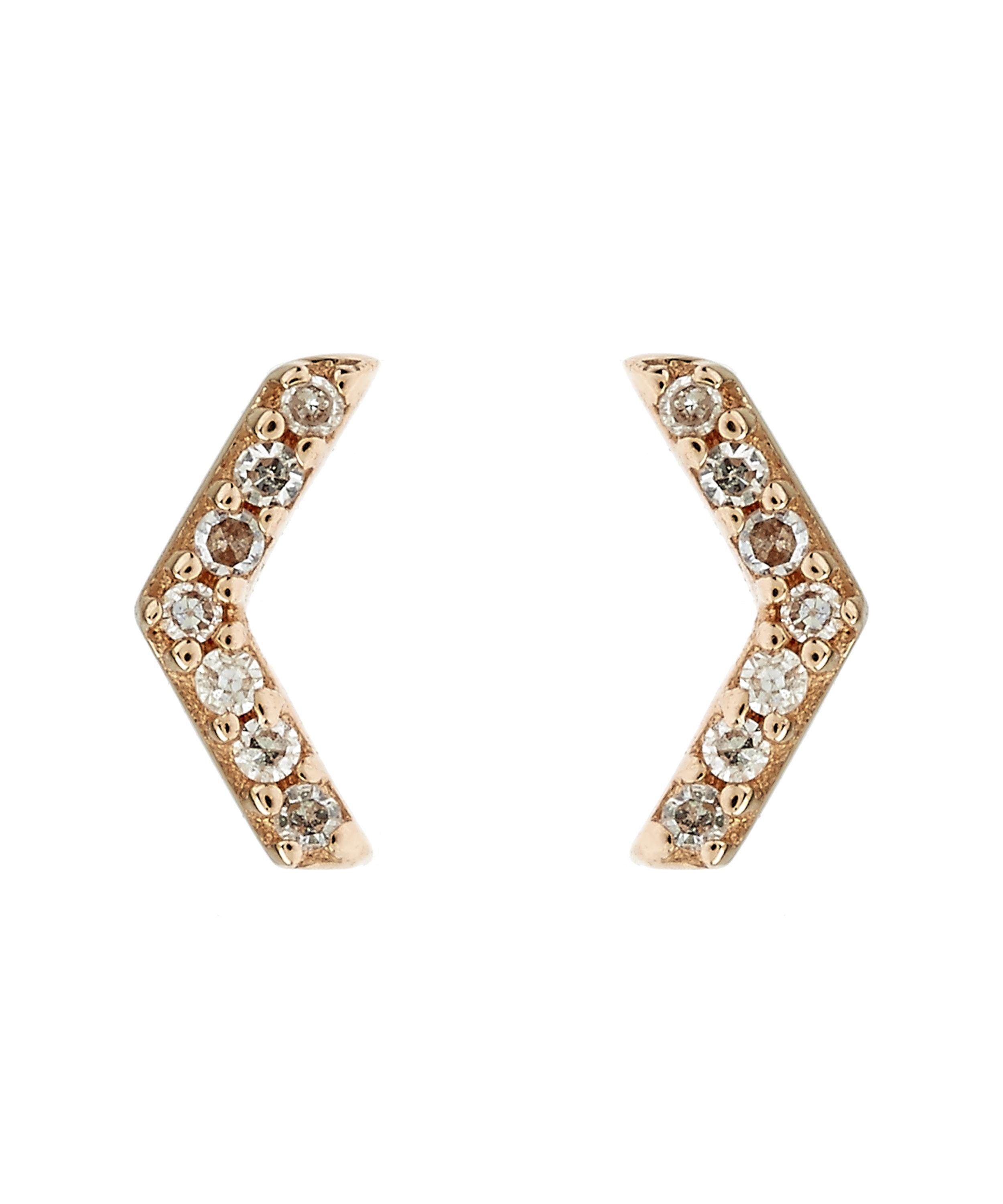 Astley Clarke plain triple Honeycomb stud earrings - Metallic J9tSfmf