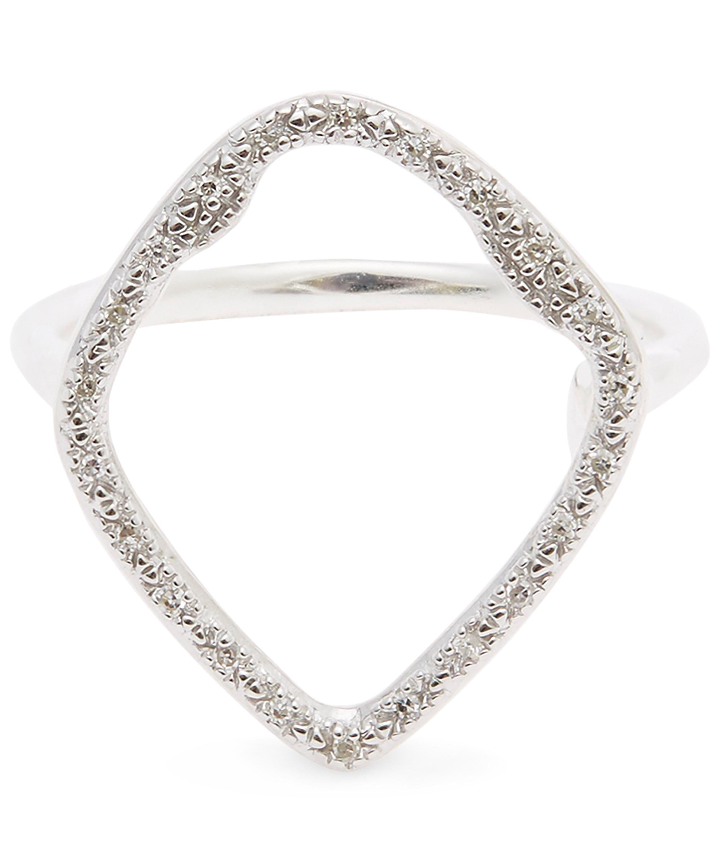 Riva Diamond Hoop Ring, Sterling Silver Monica Vinader