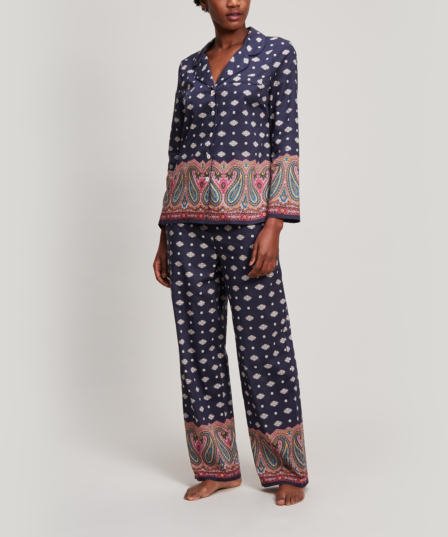f1d7bcfaa43 Liberty Persia Tana Lawn Cotton Long Pyjama Set in Blue - Lyst