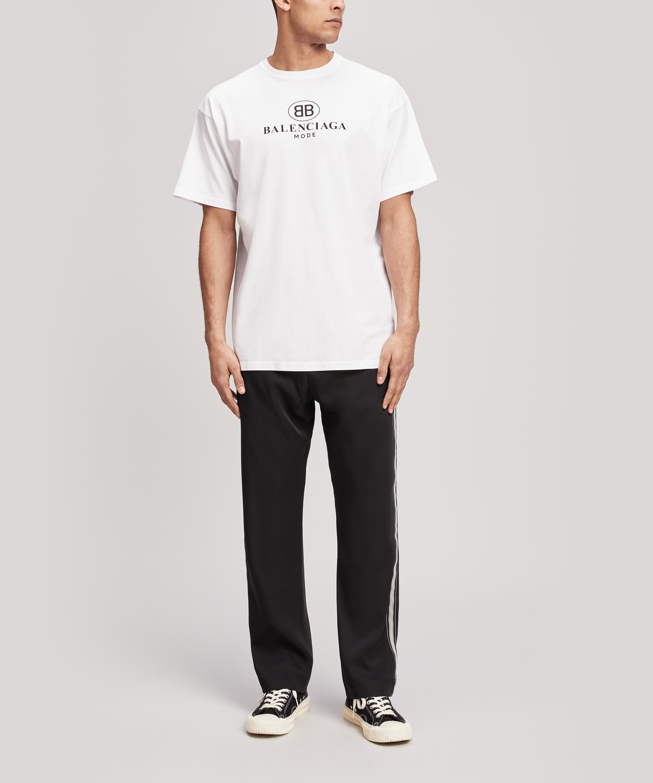 c1a5e8c6 Balenciaga Mode Logo T-shirt in White for Men - Save 21% - Lyst
