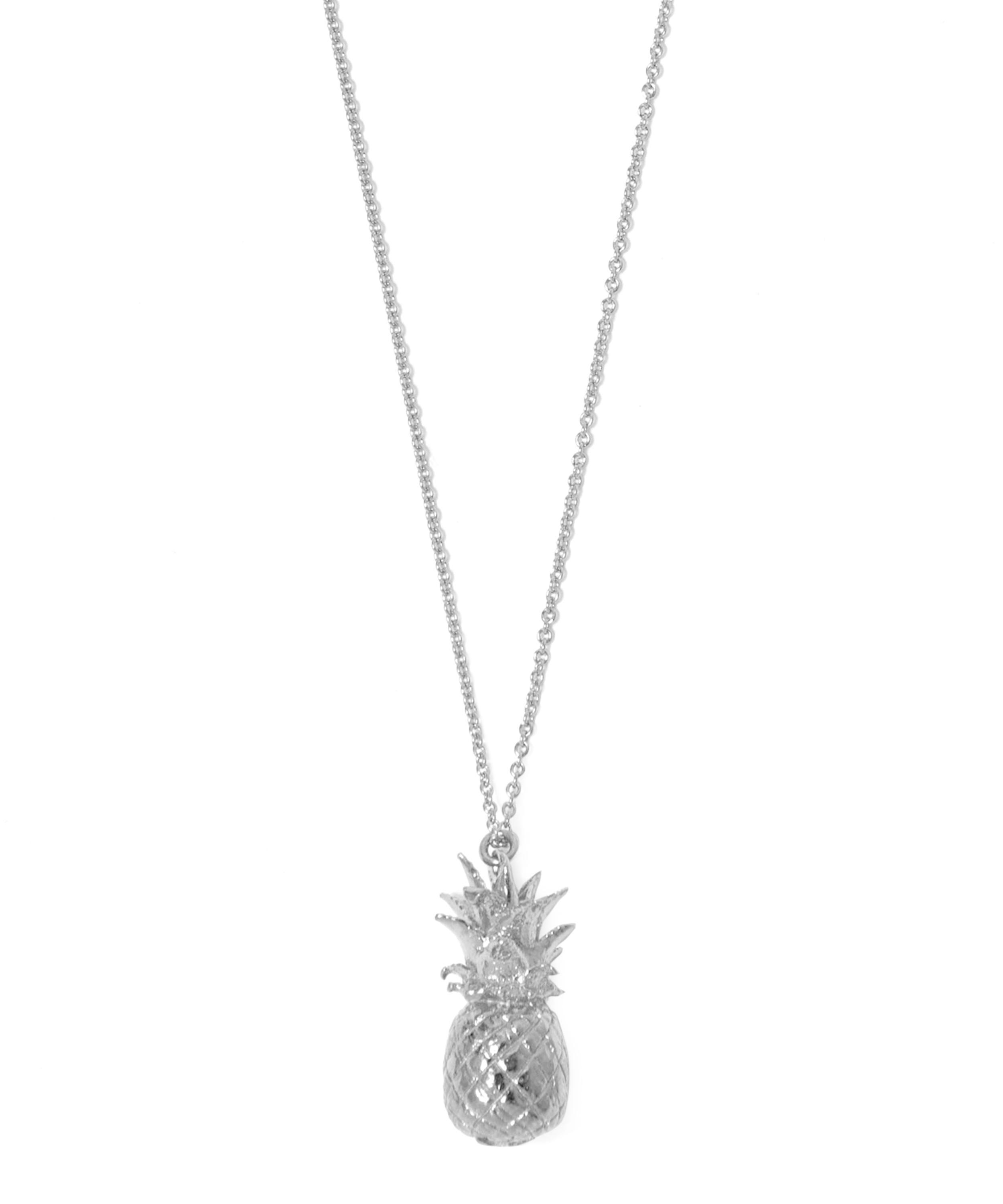 products pineapple gold silver necklace over sterling img designs contagious