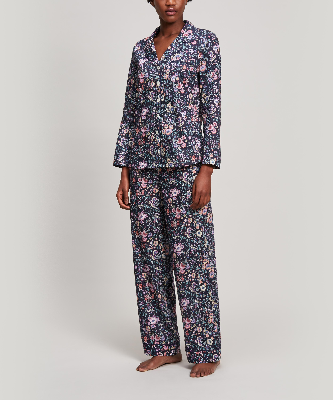 5dfbc2a82a22 Lyst - Liberty Delilah Tana Lawn Cotton Long Pyjama Set in Blue