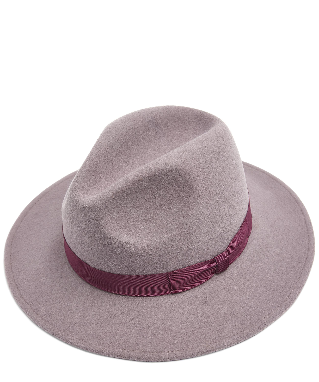 43f35b7a Paul Smith Swirl-lined Wool Fedora in Purple - Lyst