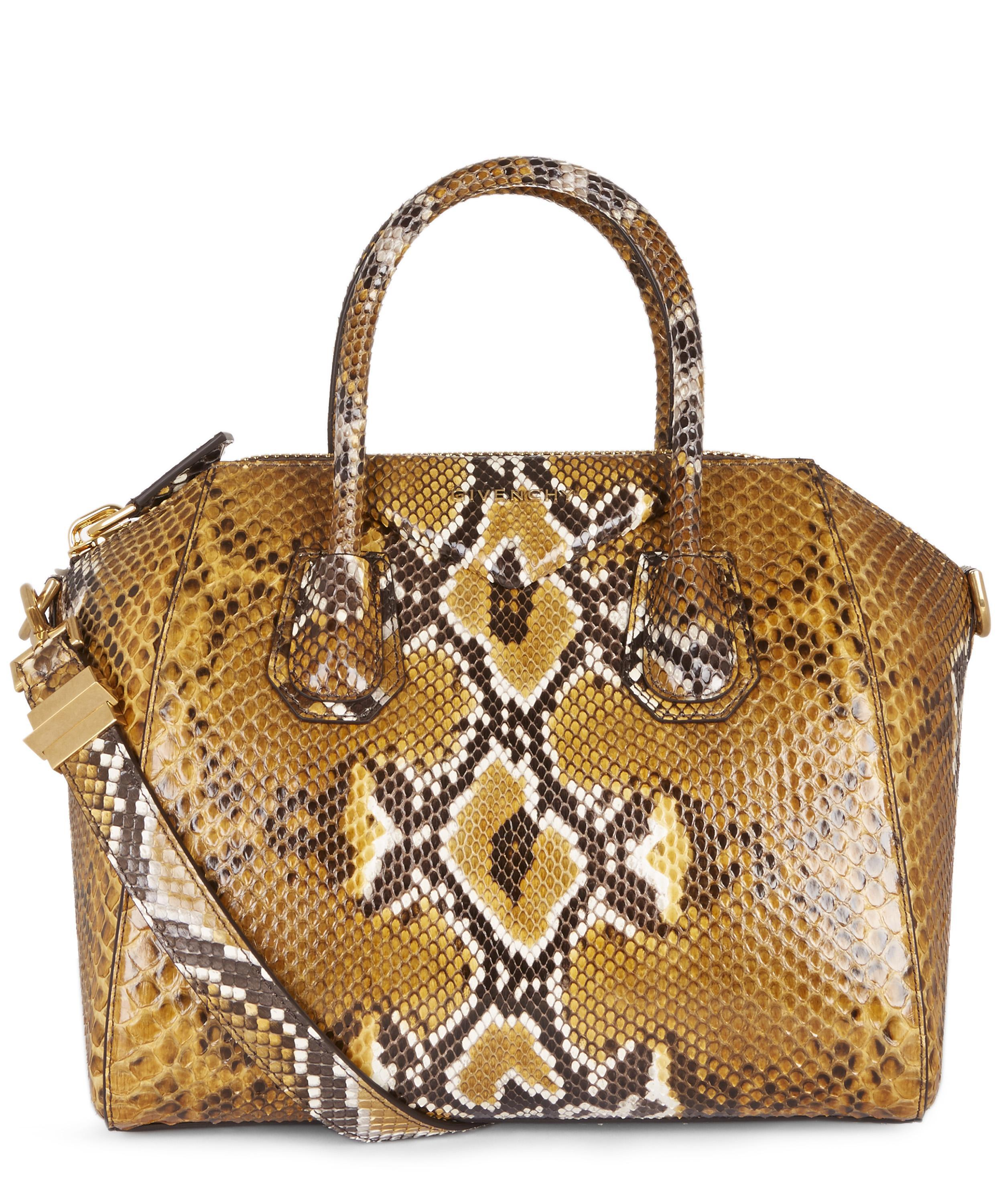 021a5d1de7a0 Givenchy Antigona In Python in Metallic - Lyst