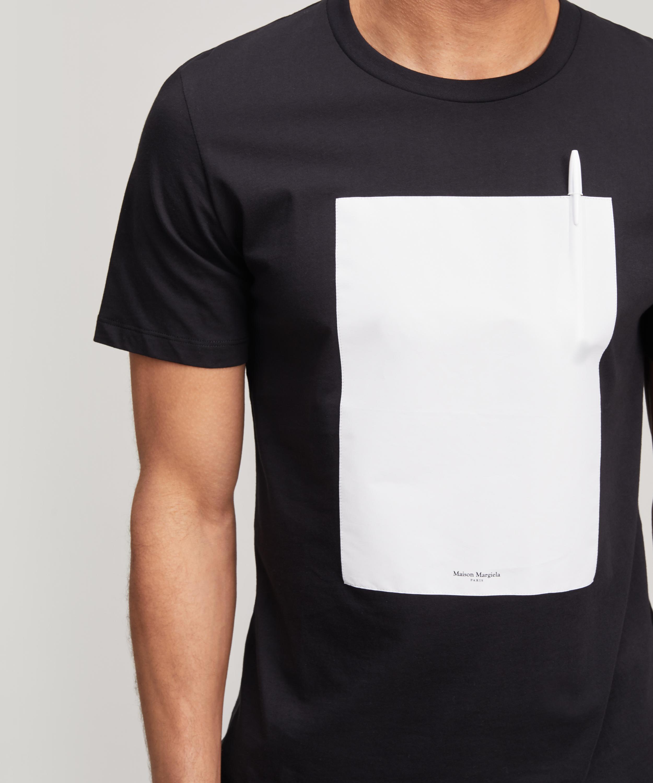 Lyst Maison Margiela Pen T Shirt In Black For Men