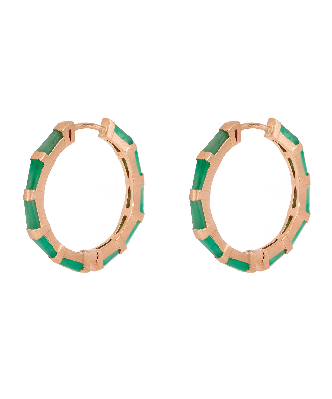 Nak Armstrong Womens Hilvanado Stitch Hoop Earrings 9g0GVW