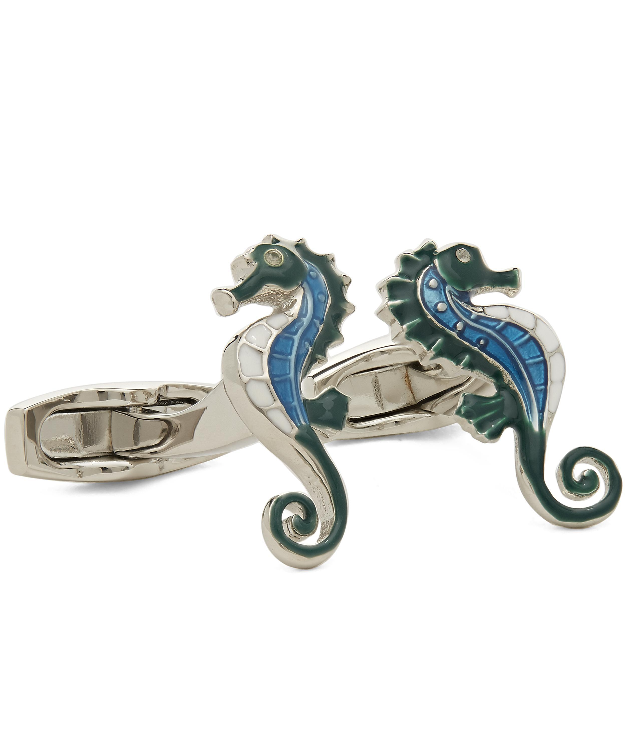 b4716a0b2 Simon Carter Under The Sea Seahorse Cufflinks for Men - Lyst