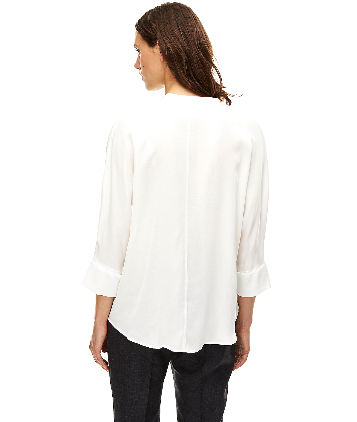 liebeskind berlin blouse with mullet style hem in white lyst. Black Bedroom Furniture Sets. Home Design Ideas