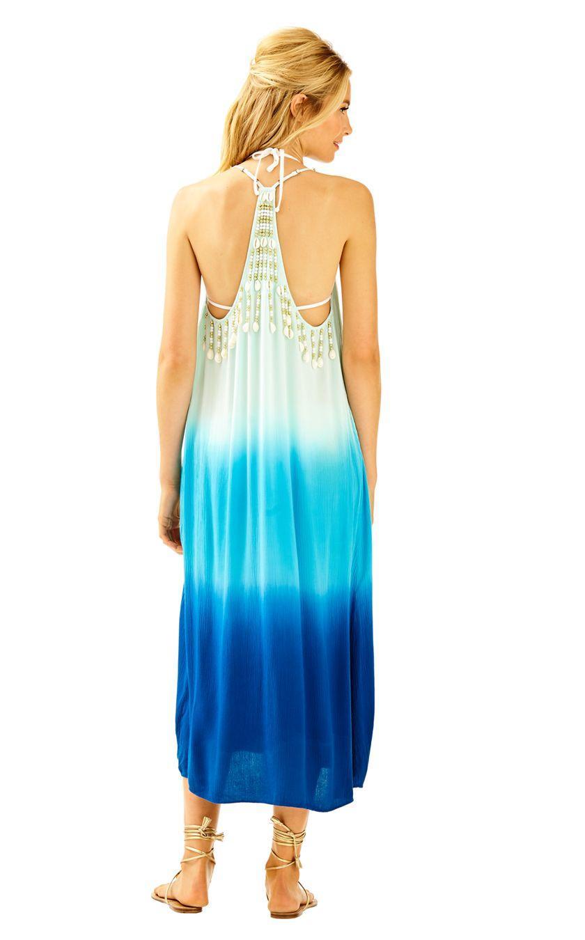 da49bf8010 Lilly Pulitzer Kenli Midi Cover-up Dress in Blue - Lyst