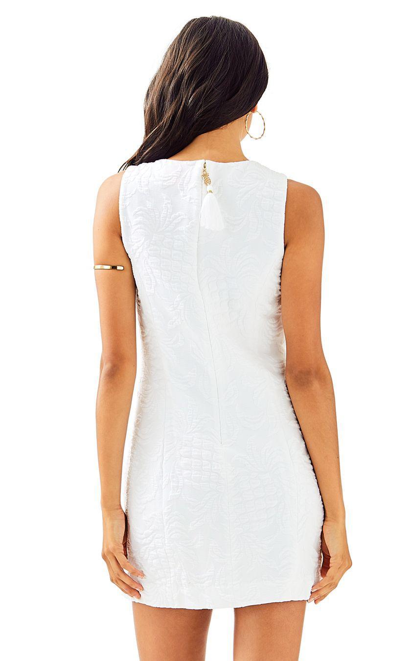 91432c94ae5831 Lilly Pulitzer Keali Stretch Shift Dress in White - Lyst