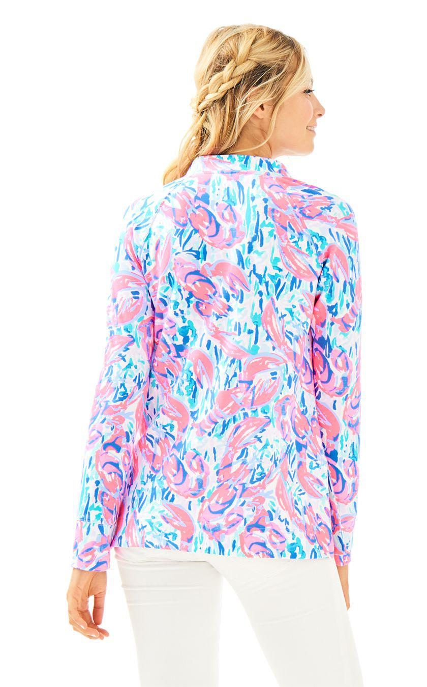 9a7509640a9 Lyst - Lilly Pulitzer Upf 50+ Skipper Tunic Popover (cosmic Coral ...