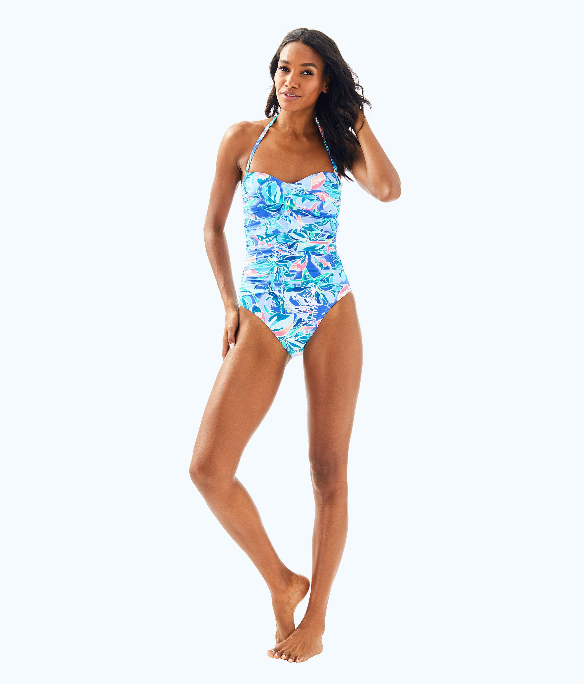 a0f7c7e2bafc1 Lyst - Lilly Pulitzer Flamenco One Piece Swimsuit in Blue