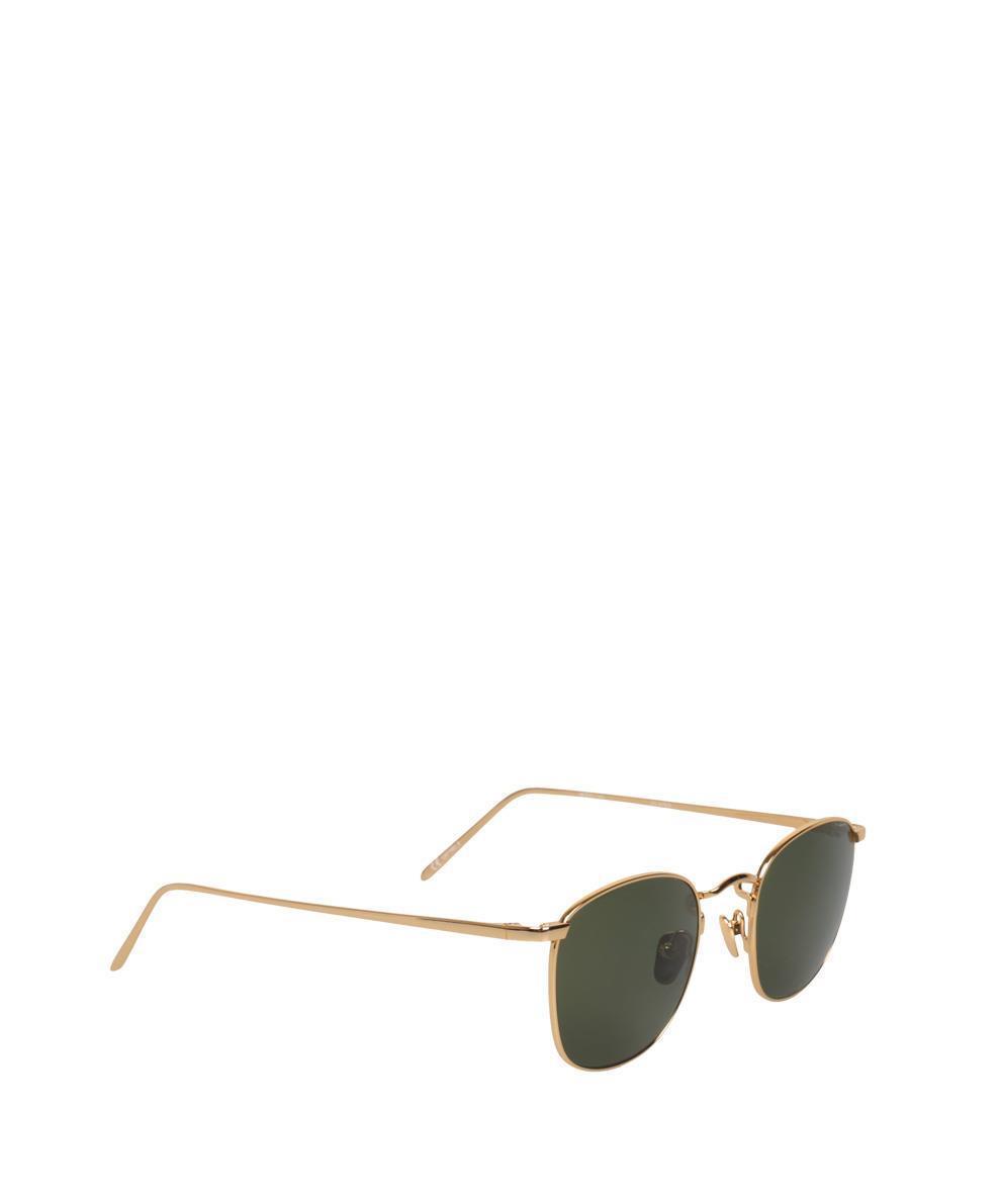 1527adbc73 Lyst - Linda Farrow Square 479 C5 Sunglasses in Green