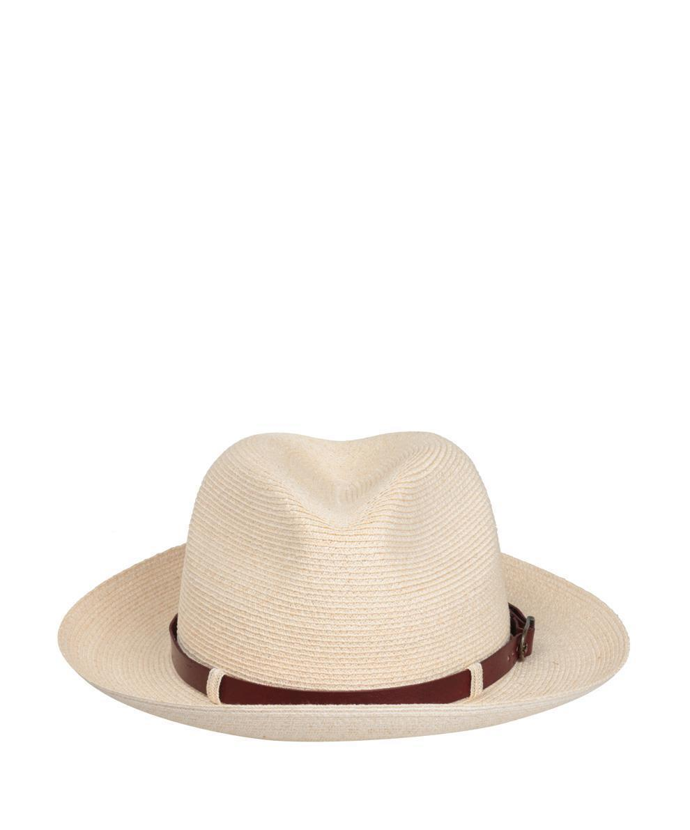 Grevi Straw And Leather Hat in Natural for Men - Lyst 60d5262a6fb7