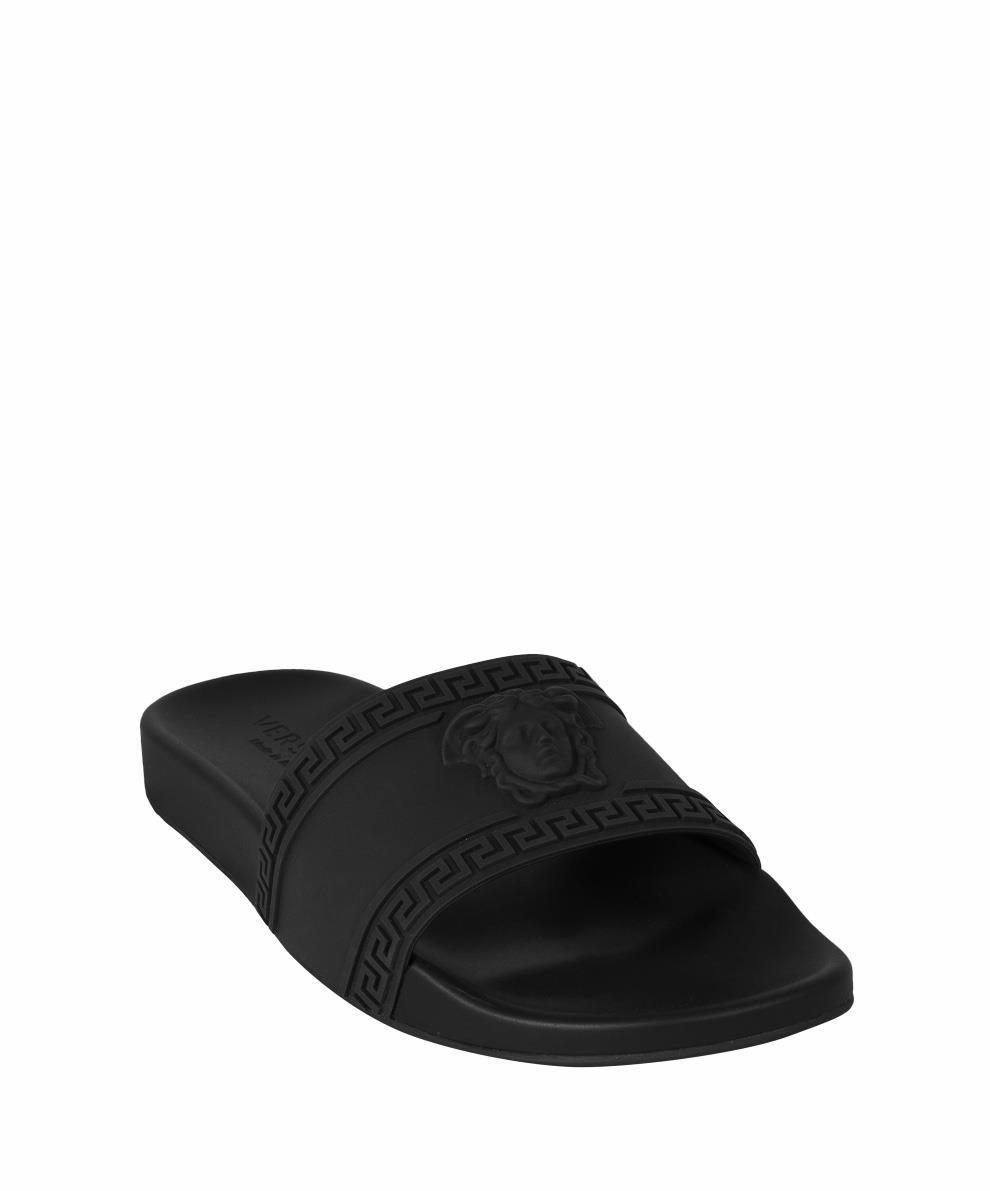 f73721a94fc76 Lyst - Versace Medusa Rubber Slides in Black for Men