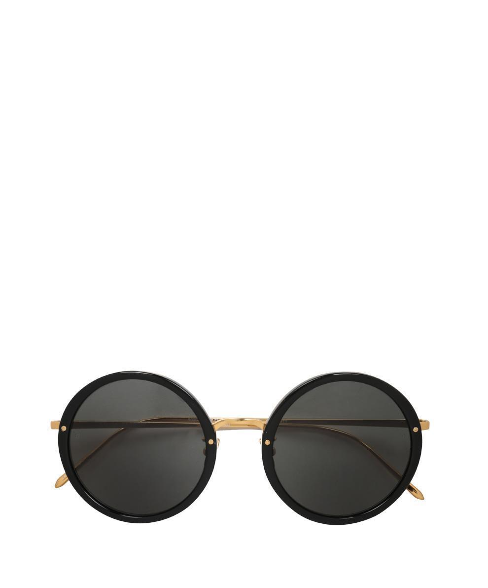 02f20c57e0c Linda Farrow Round 239 C11 Sunglasses in Black - Lyst