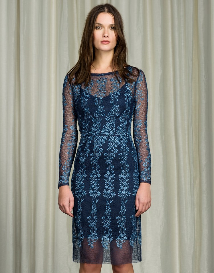 Body frock embroidered lace dress in blue lyst