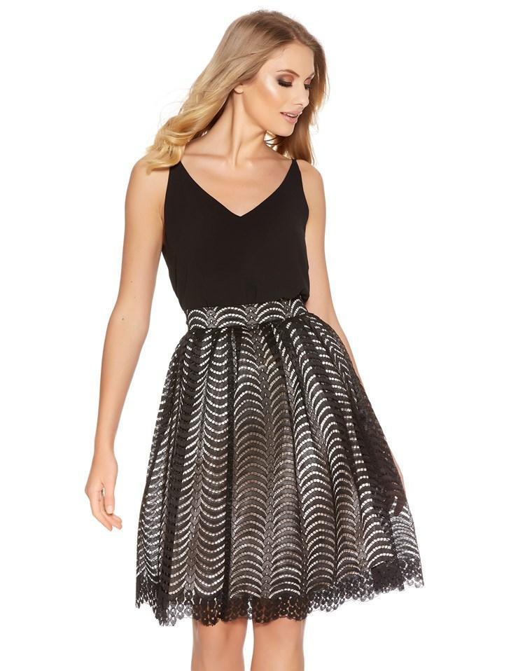 Quiz Midi Skirt In Black Lyst
