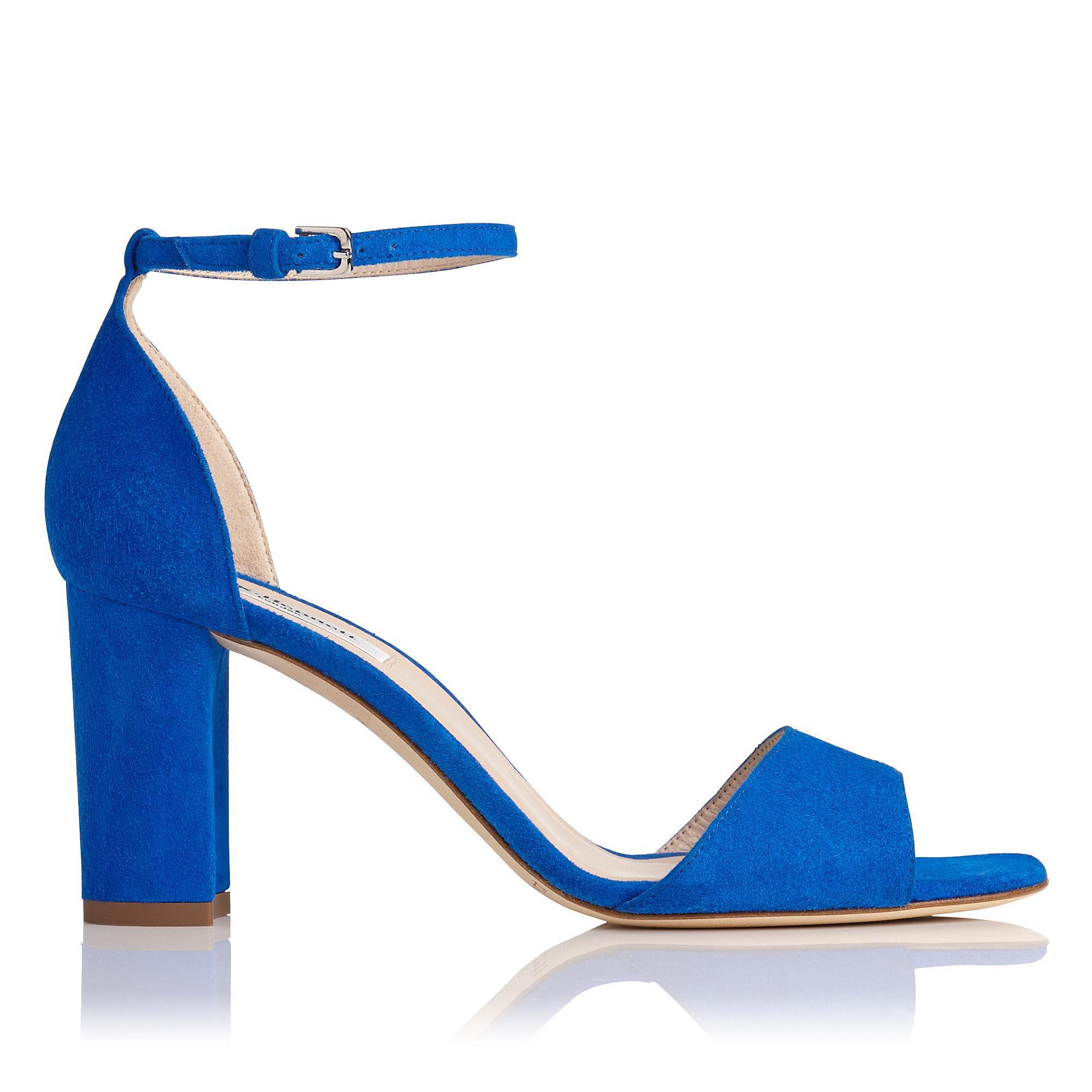 5533b6a5a5 Lyst - L.K.Bennett Helena Block Heeled Sandals in Blue