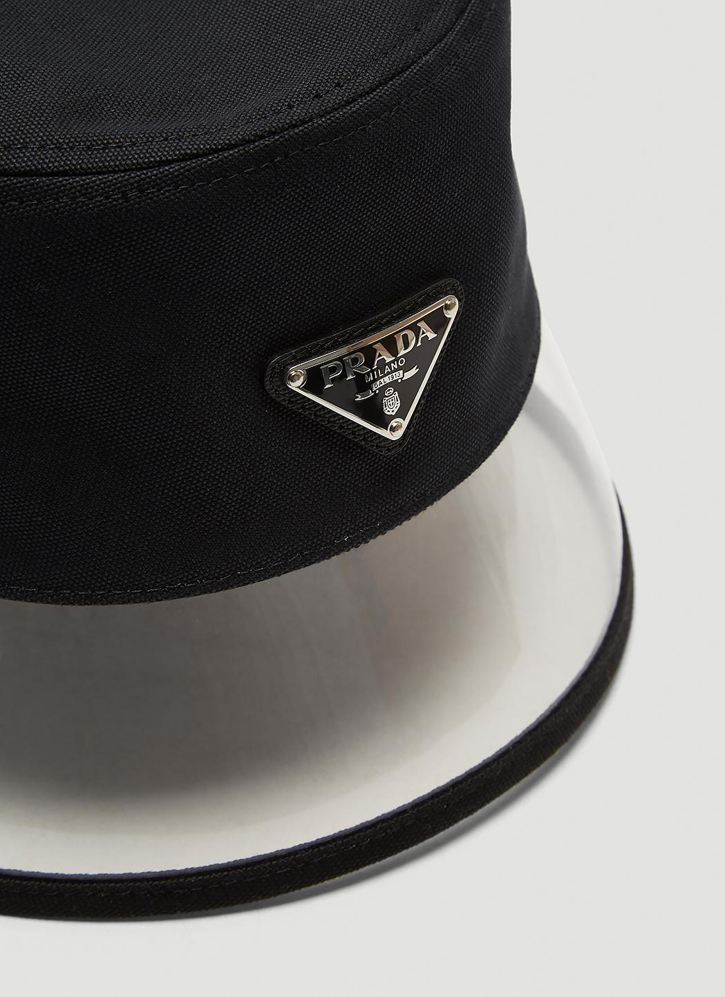21e7a42e404 Lyst - Prada Plexiglass Trim Bucket Hat In Black in Black - Save 4%