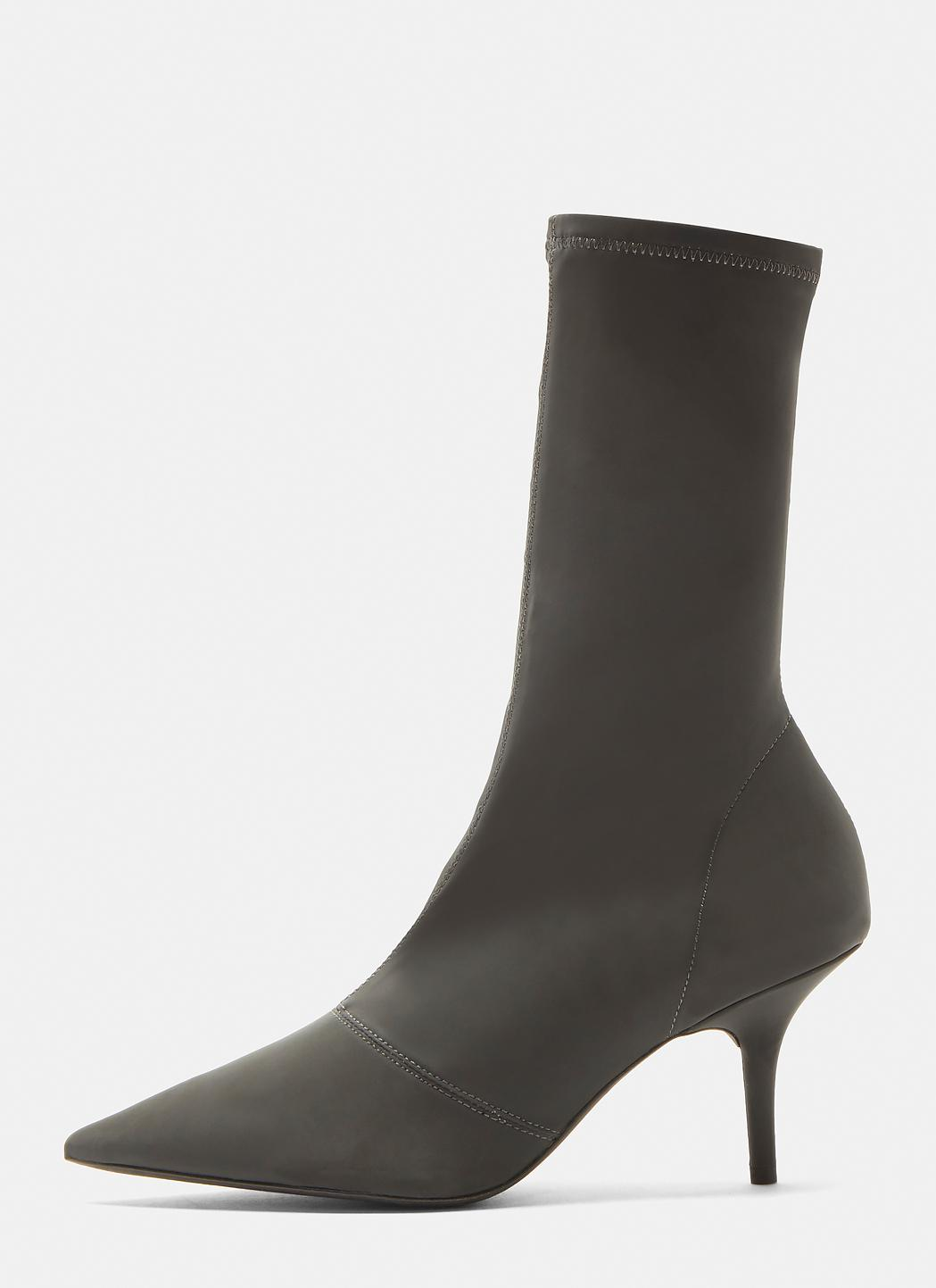 Yeezy Graphite Reflective Ankle Boot 70mm Heel daJcKhYK
