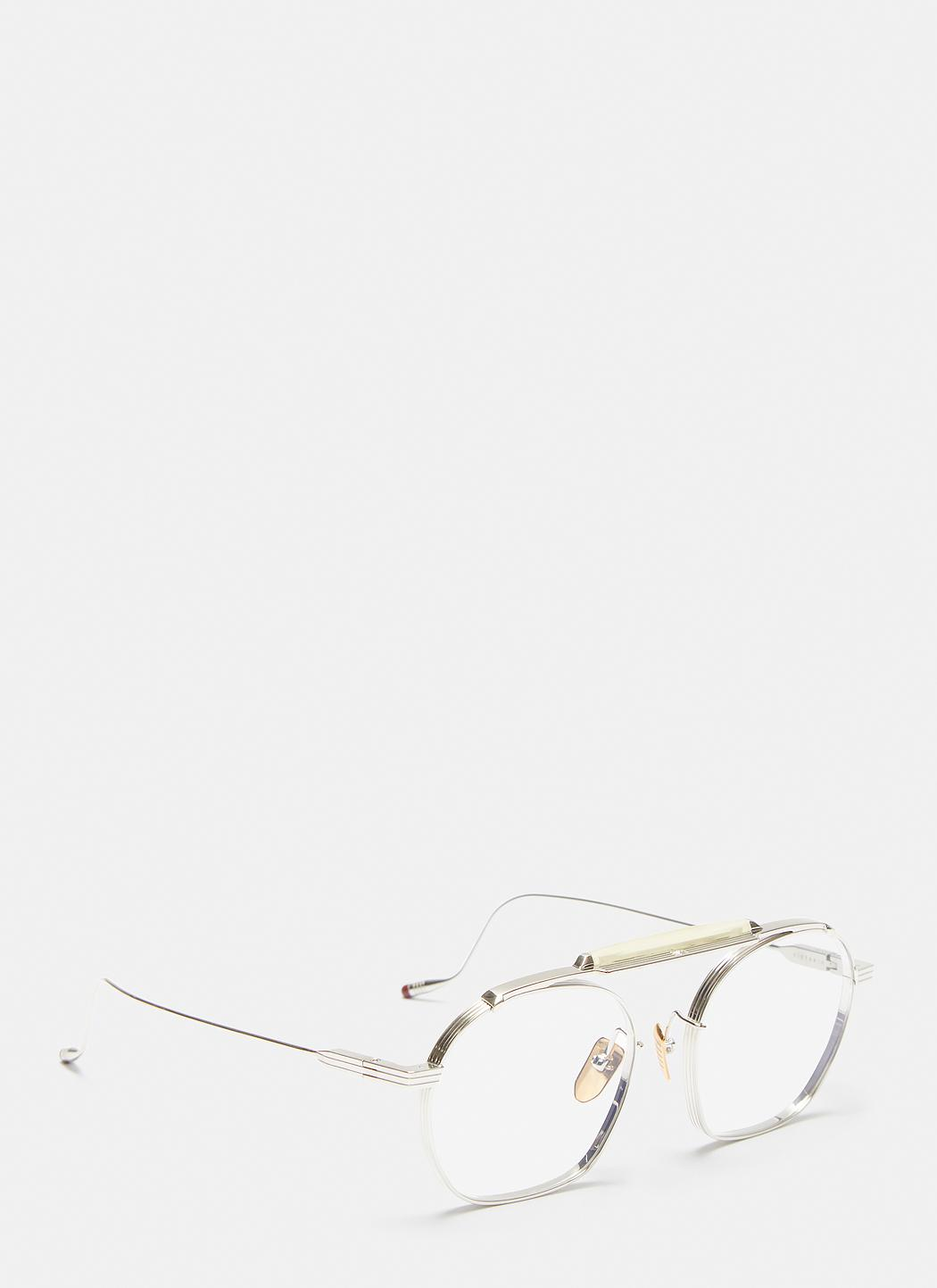 lyst jacques marie mage victorio round frame sunglasses in silver Ray Ban Rb4068 view fullscreen