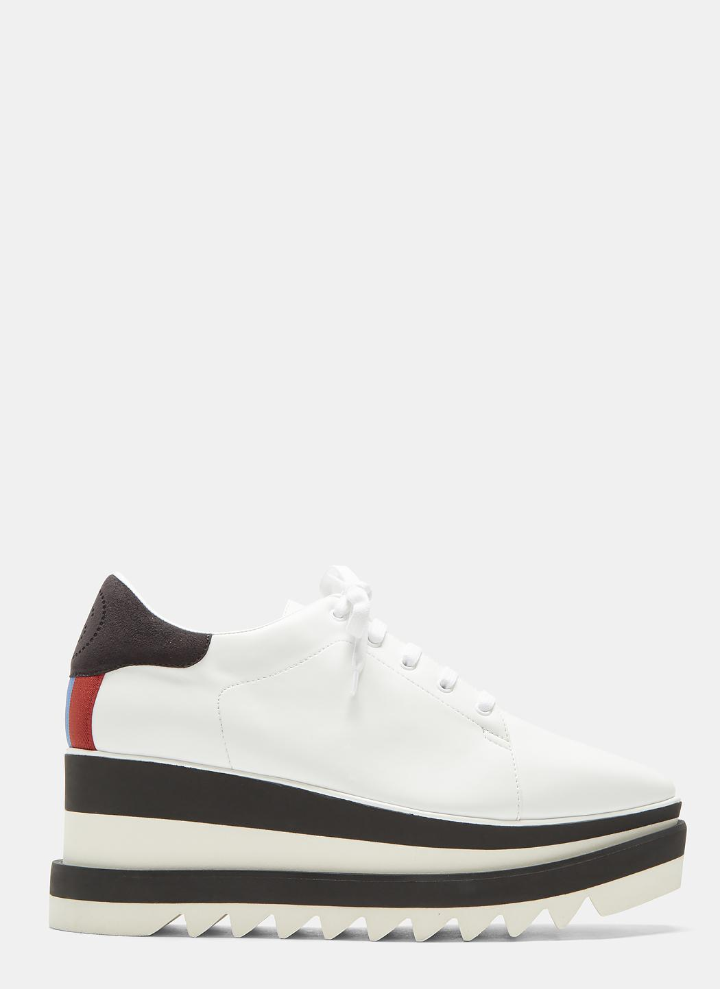 43d65bcf3eea Lyst - Stella Mccartney Elyse Platform Sneakers In White .
