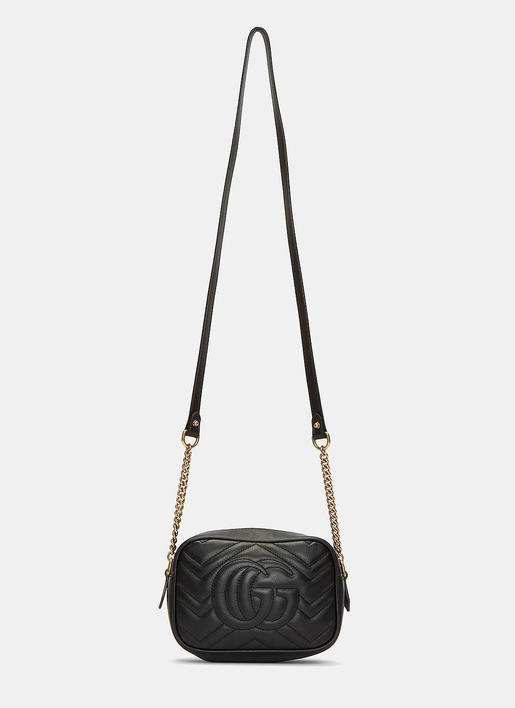 bc0e3786743 Lyst - Gucci Women s Gg Marmont Matelassé Mini Bag In Black in Black