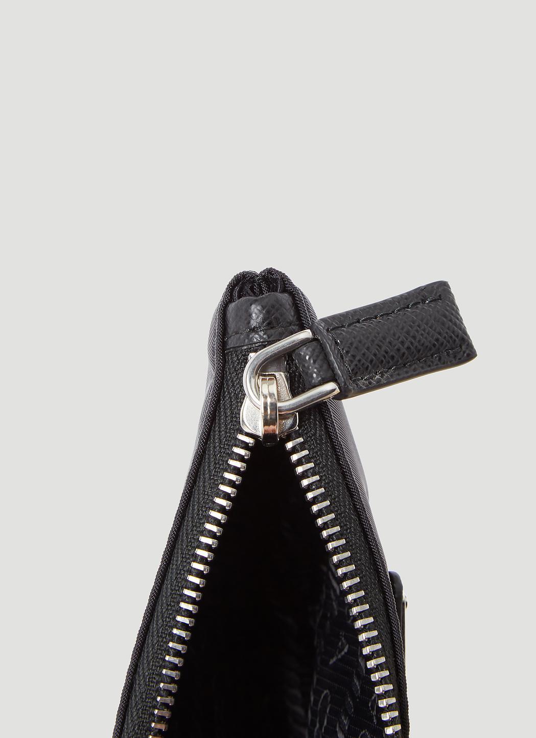 ... bag aa946 e73c0  new zealand prada nylon key chain wallet in black for  men lyst 9486e b57b1 9fd1c29a76298