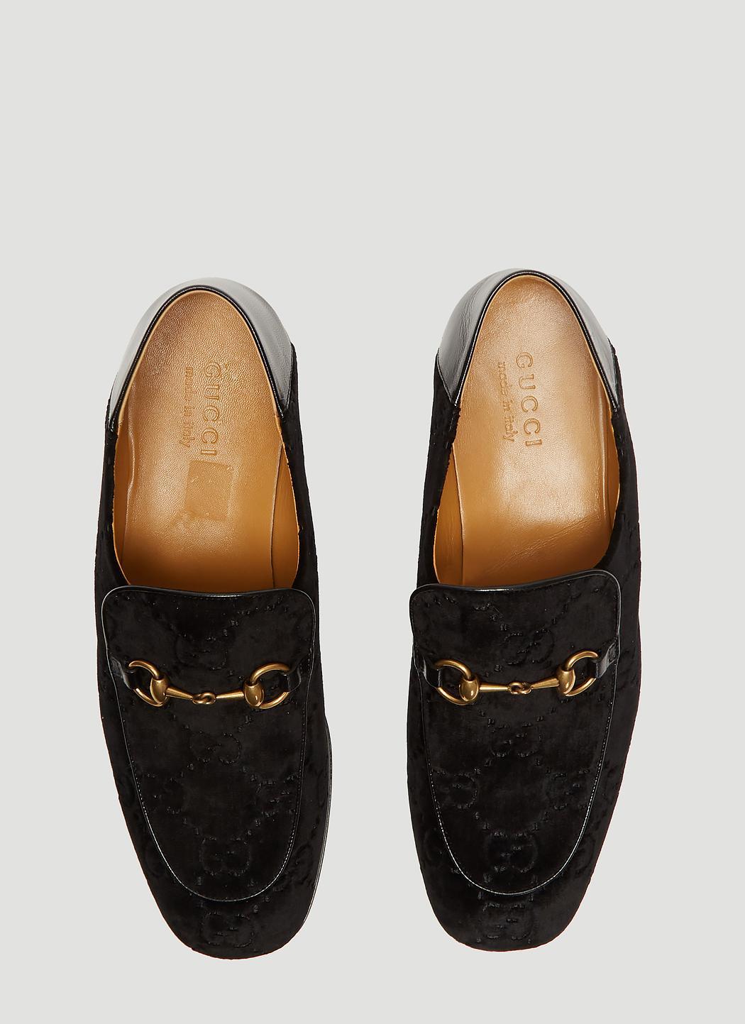 a38315a26 Gucci - GG Velvet Fold Loafer In Black for Men - Lyst. View fullscreen