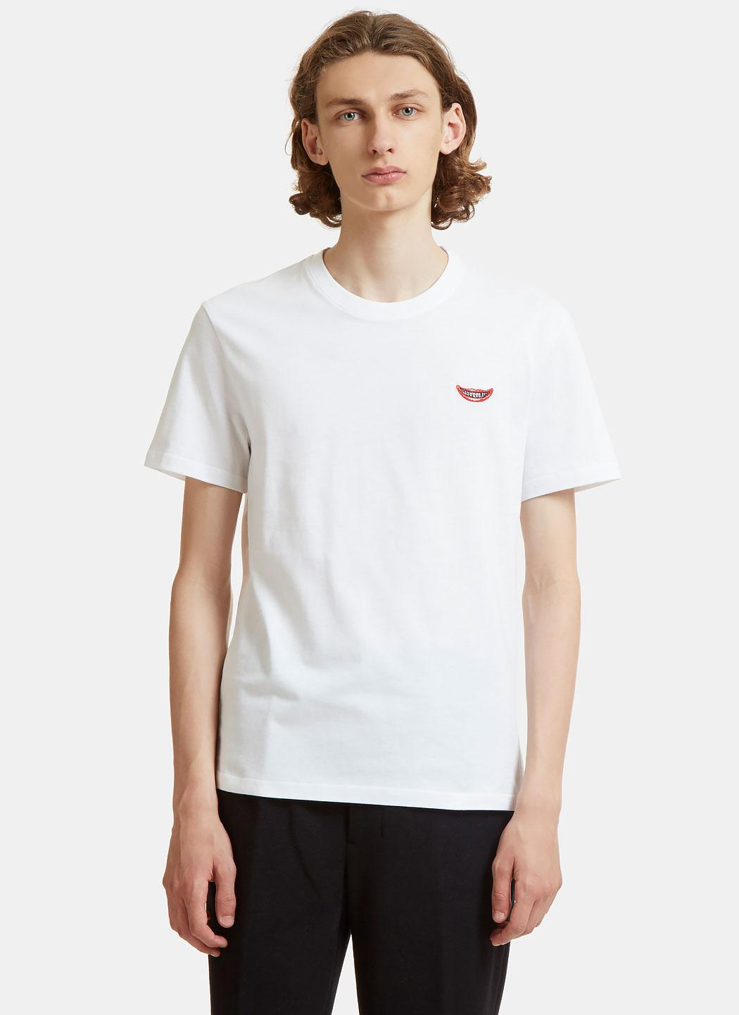 Lyst stella mccartney no smile no service print t shirt for T shirt printing mobile al