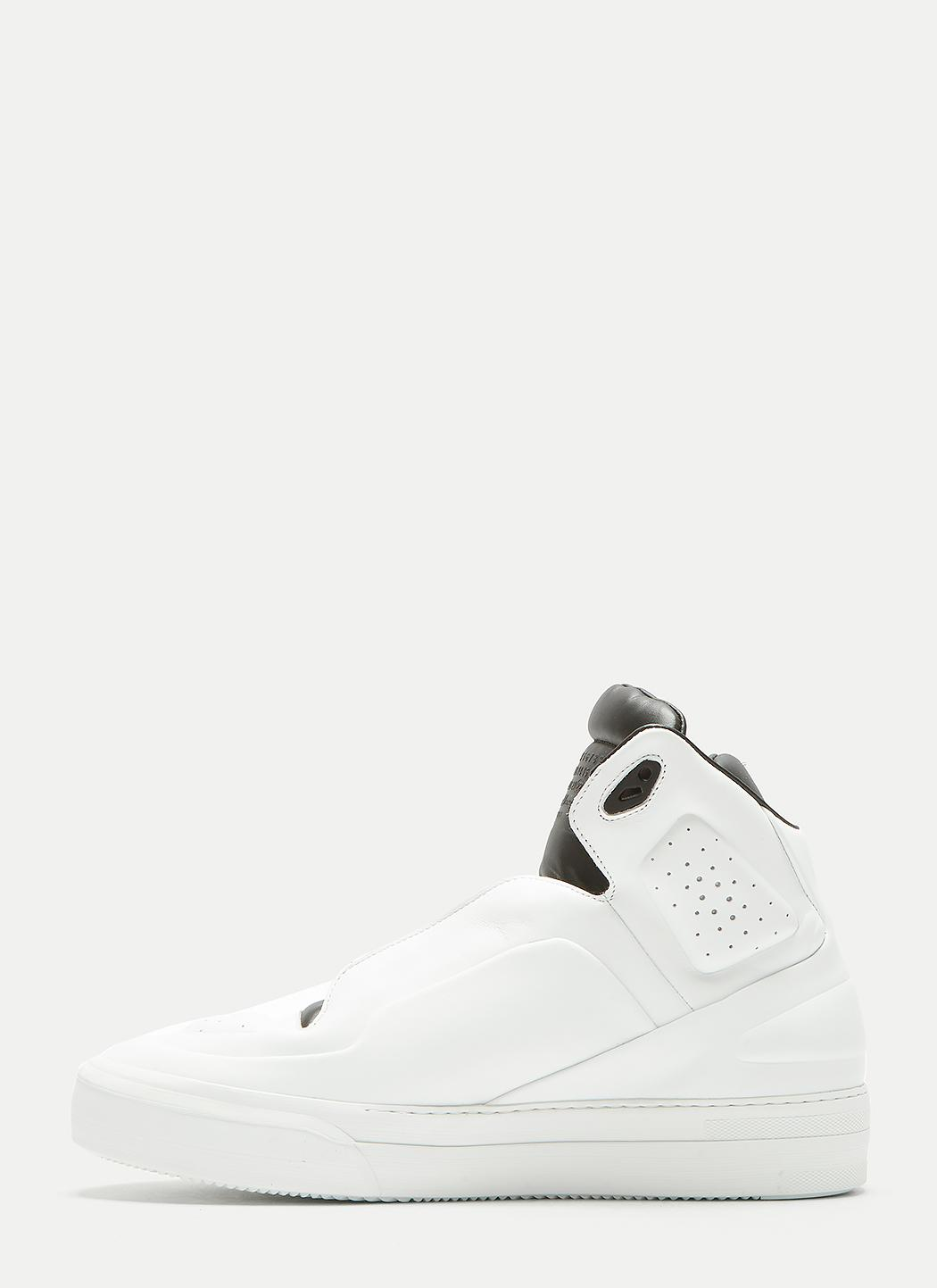 two-tone hi-top sneakers - White Maison Martin Margiela