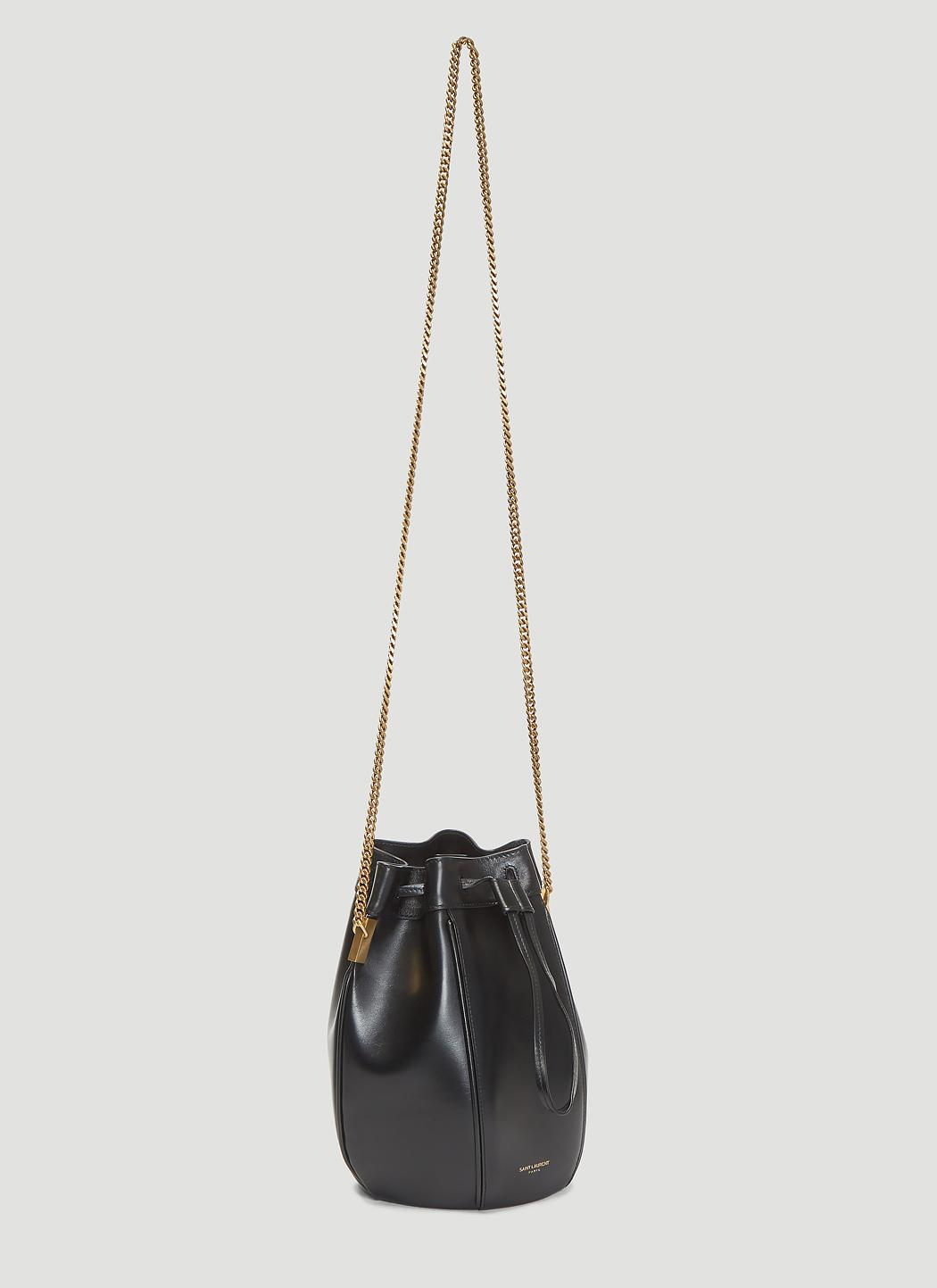 966545265f43 Saint Laurent - Talitha Bucket Bag In Black - Lyst. View fullscreen