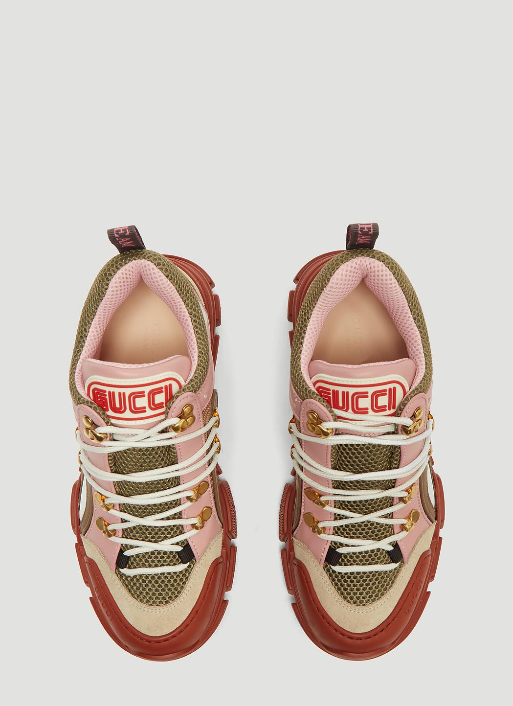 c29e046e10a9 Lyst - Gucci Flashtrek GG High-top Sneaker In Pink in Pink - Save 21%